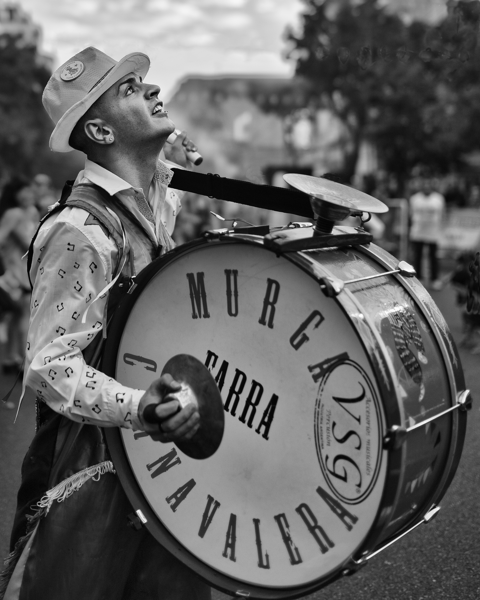 carnival drummer, buenos aires