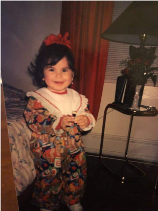 Me, at age 3 and yes, those are teddy bears with the American flag on them.