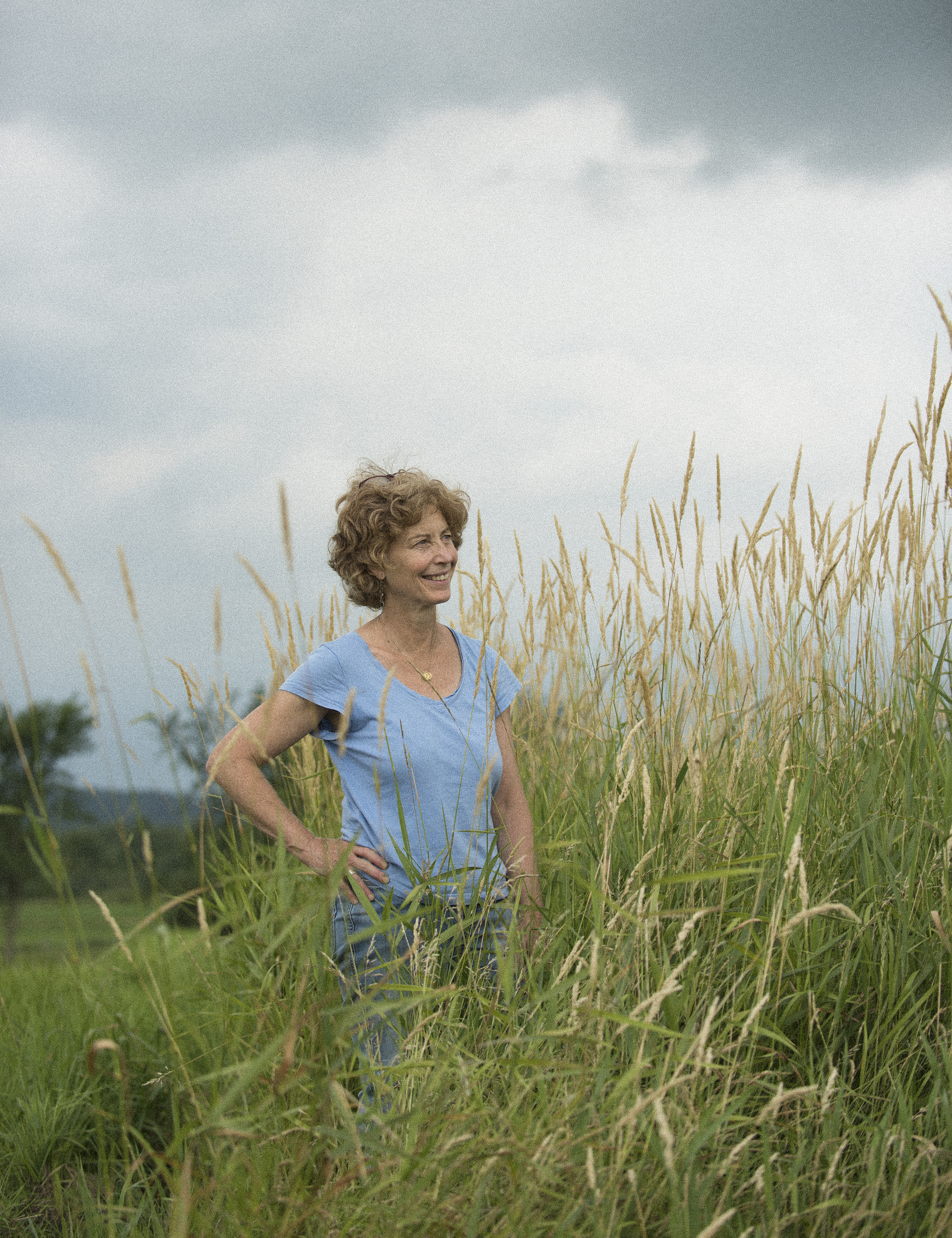Diane St. Clair standing in field