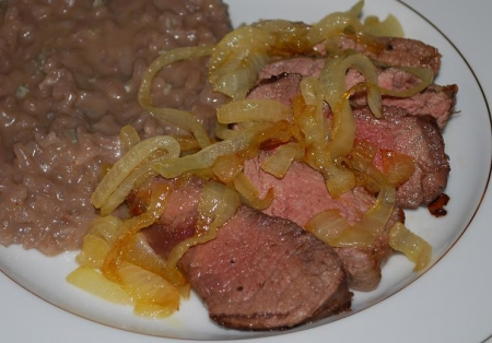 Grilled Broil with Caramelized Onions