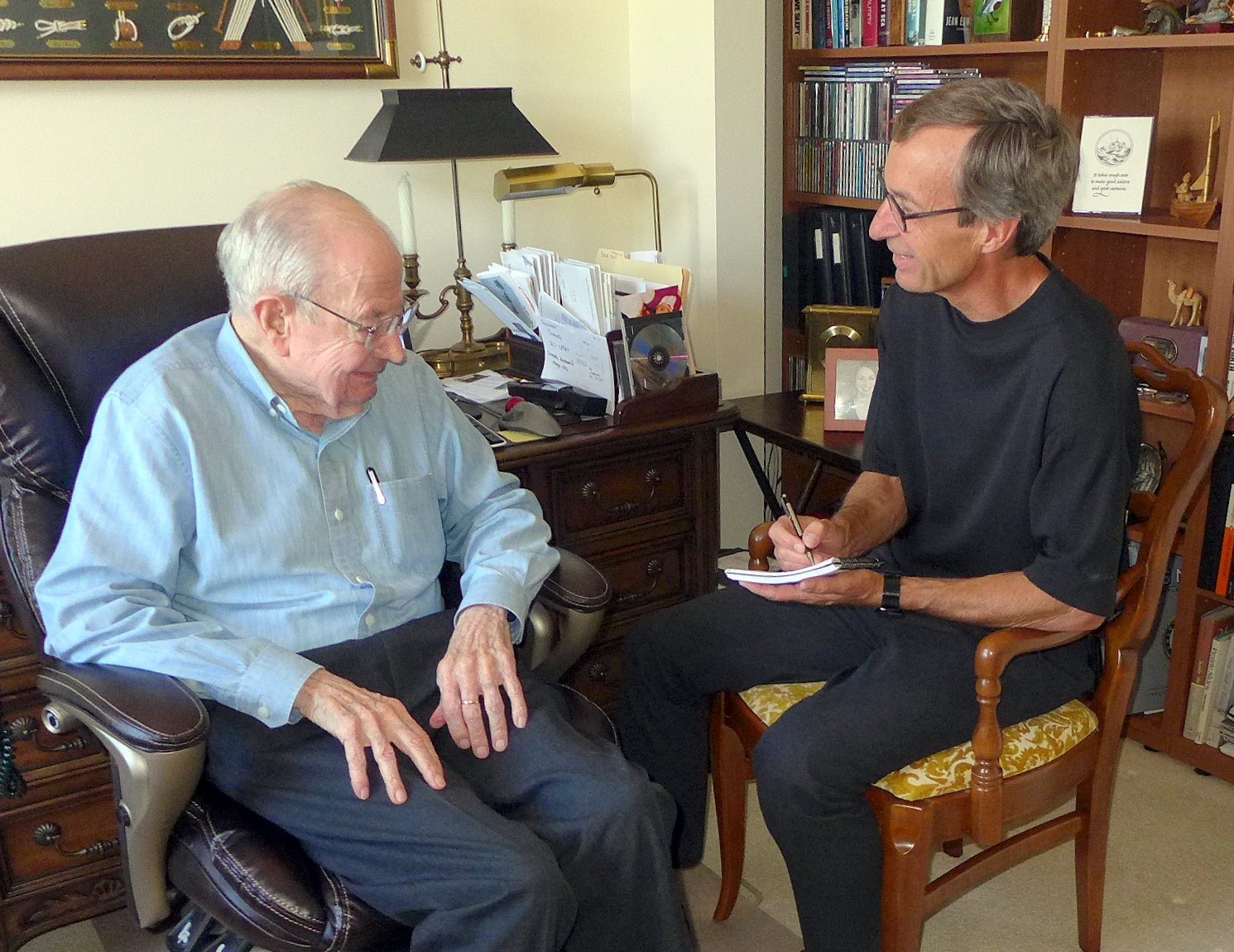 Mike works with Ken Berge on his  Ninety Years and Counting  memoir