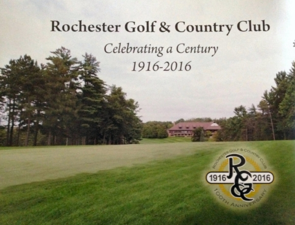 "Rochester Golf & Country Club      —      Celebrating a Century      (2016)    Printing: Johnson Printing, Book Design: Emily Benike, Editing: Marjorie Toensing   Located two miles west of the heart of downtown, Rochester Golf and Country Club celebrated its one-hundredth anniversary in 2016. Many of the world's best golfers, including Gene Sarazen, Walter Hagen, Patti Berg, Byron Nelson, and Arnold Palmer, to name a few, have played this classic A.W. Tillinghast  –  designed course. This coffee table book contains photos and stories of the club's history.       Excerpt      From Bob Moore, RGCC member from 1971 to 2000: Our club golf professionals also provided us with memorable stories, several that involved Wendell Pittenger. I remember a Sunday in the 1980s when my parents golfed with me at the club. Dad took a caddy. We waited to tee off on No. 1. As we waited again to tee off on No. 2 (there was a backup on No. 3), Dad sent his caddy off to forecaddie for him on the right side. We waited and waited and finally teed off. When we reached Dad's ball, his bag was nearby but his caddy was nowhere to be seen and never reappeared. In the clubhouse after the round, Dad said to Wendell Pittenger, ""Wendell, we have a big problem here. Your caddy disappeared on me on the second hole.""           Wendell said, ""Oh my gosh, Mr. Moore. Don't tell me you lost your caddy; they are hard to recruit. We're going to have to charge you extra for that."" To this day, I have a pair of beer glasses on which is inscribed the newspaper headline ""Bob Moore loses caddy in rough.""            Another day, a club member was complaining to Wendell about the cost of golf shirts. ""Wendell, I don't understand why all of your shirts in the pro shop are $90. I don't see why you can't sell $35 shirts.""           Wendell came back with ""Well, I do. I just charge $90 for them."""