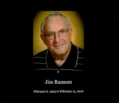 Jim Ransom :  My father's memorial service was held on February 27, 2016. This book contains items (obituary, program, homily, eulogy, photos displayed, and guest book signatures) to help my family recall not only the beautiful service but also what a wonderful man he was.
