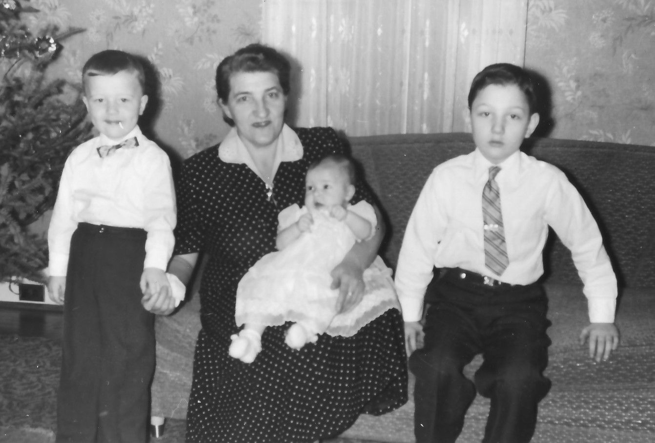 Helen with her three children: Stanley, Ann, and Frank
