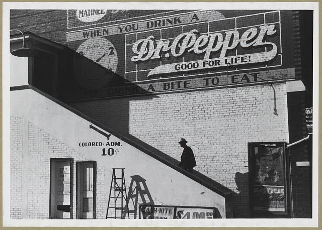 Into the 1950s, establishments in the South often had separate entrances for blacks and whites.