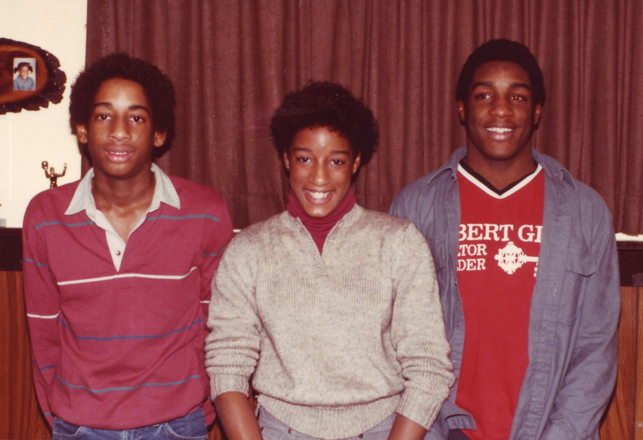 George Jr. (left), Jenifer, and Darrell. Each went on to receive a Division I college scholarship. George was a setter for Pepperdine's volleyball team and nearly made the U.S. men's Olympic volleyball team in 1988. Jenifer was an outstanding volleyball player at the University of Iowa. Darrell excelled in football at the University of Minnesota and for the Green Bay Packers.