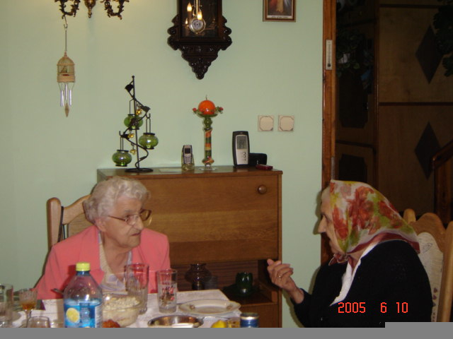 Helen (left) visiting her sister Anna in Poland in 2005