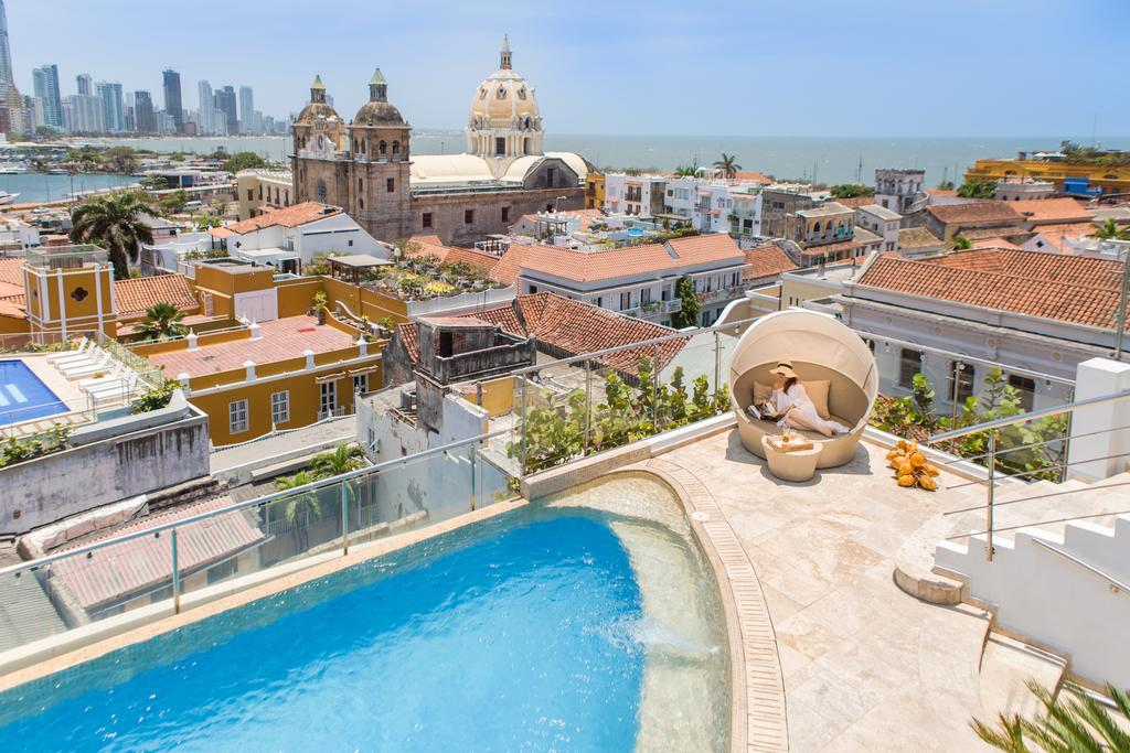 The rooftop of Movich Luxury Hotel, Cartagena