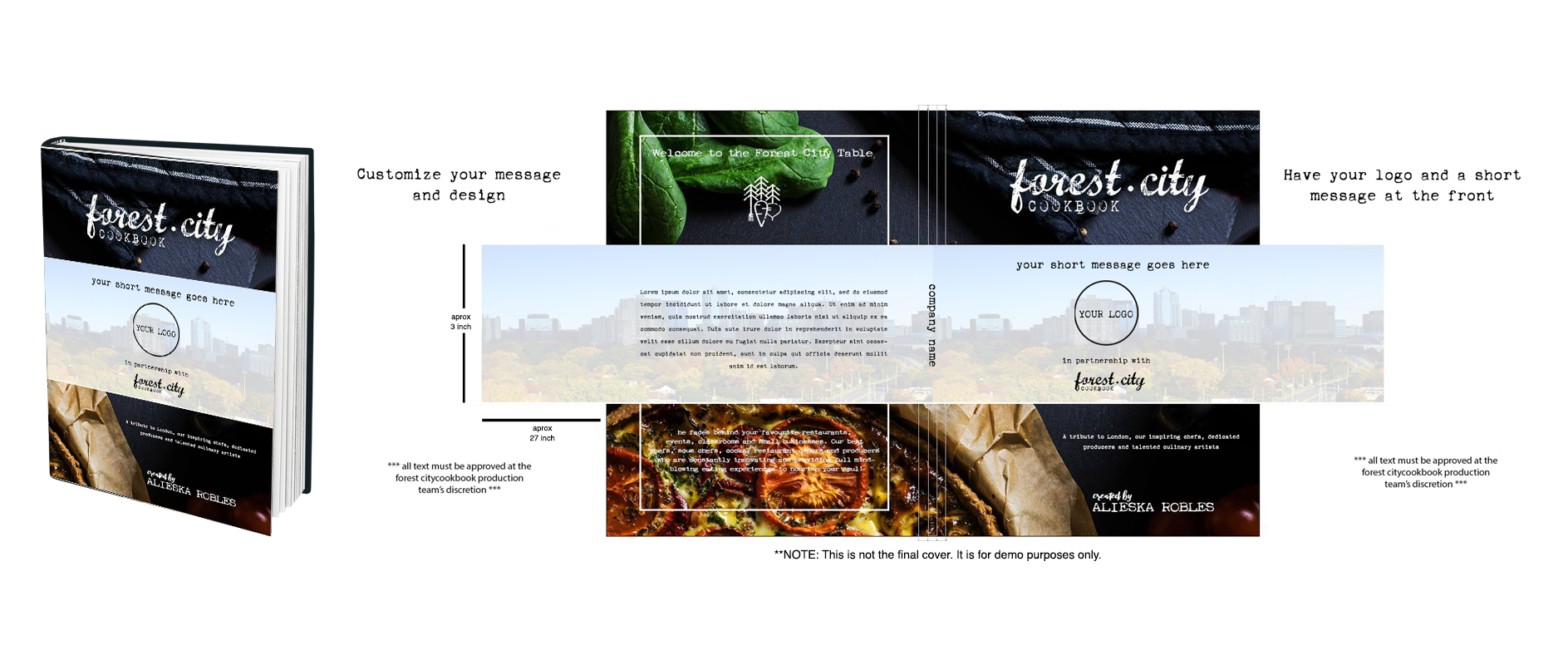 Forest City Cookbook - Marketing band