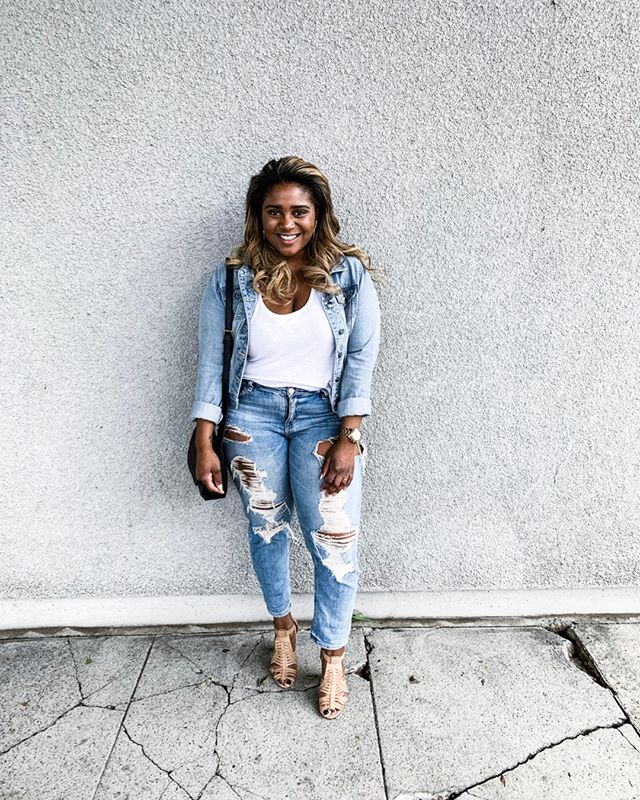Denim on denim kind of day.