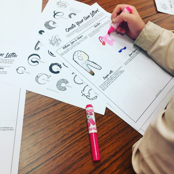 CREATIVE LETTERING - Fancy trying something different? How about a little creative lettering, great fun for you and for the kiddos!