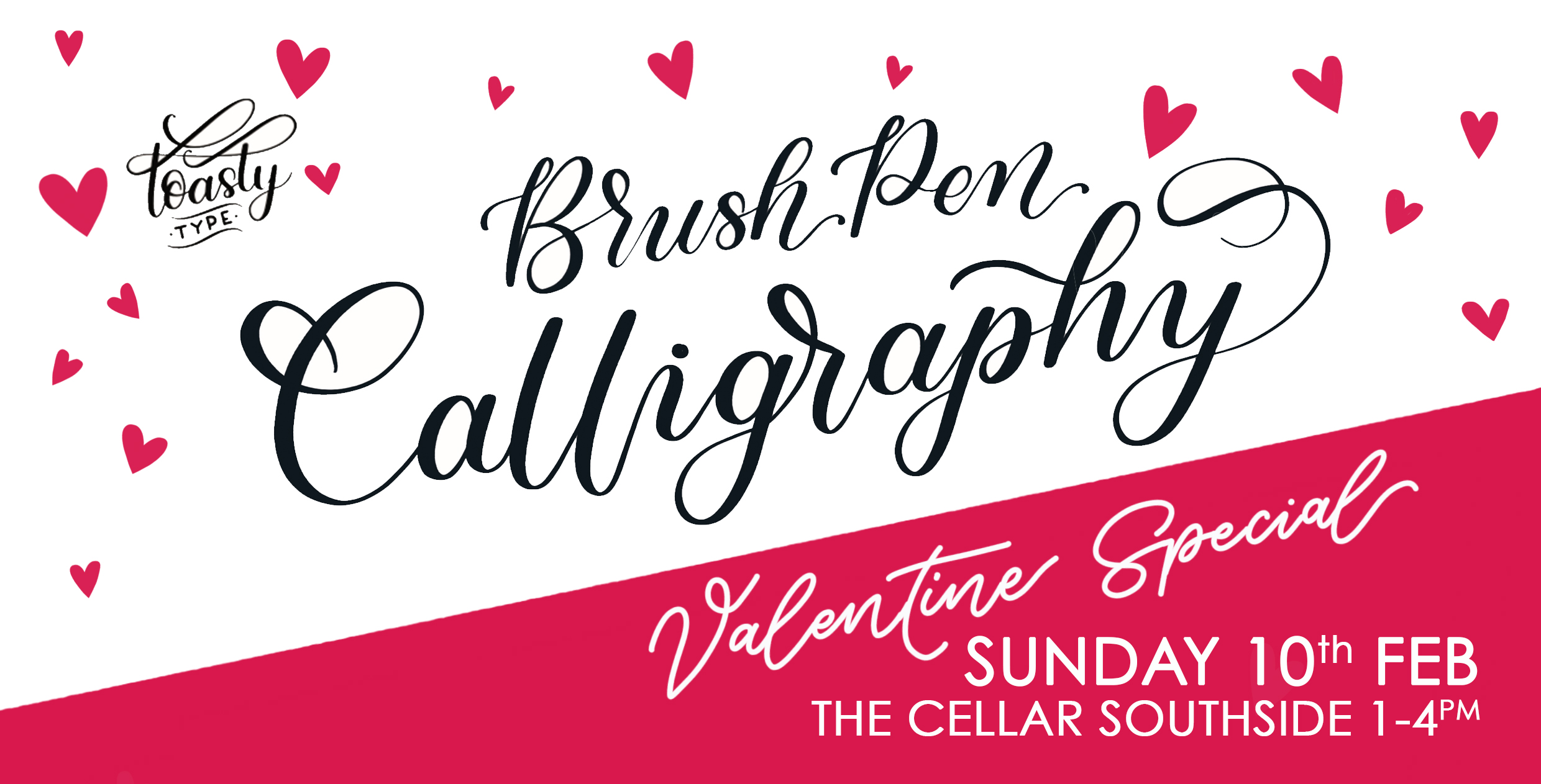 the cellar southside toasty type calligraphy workshop