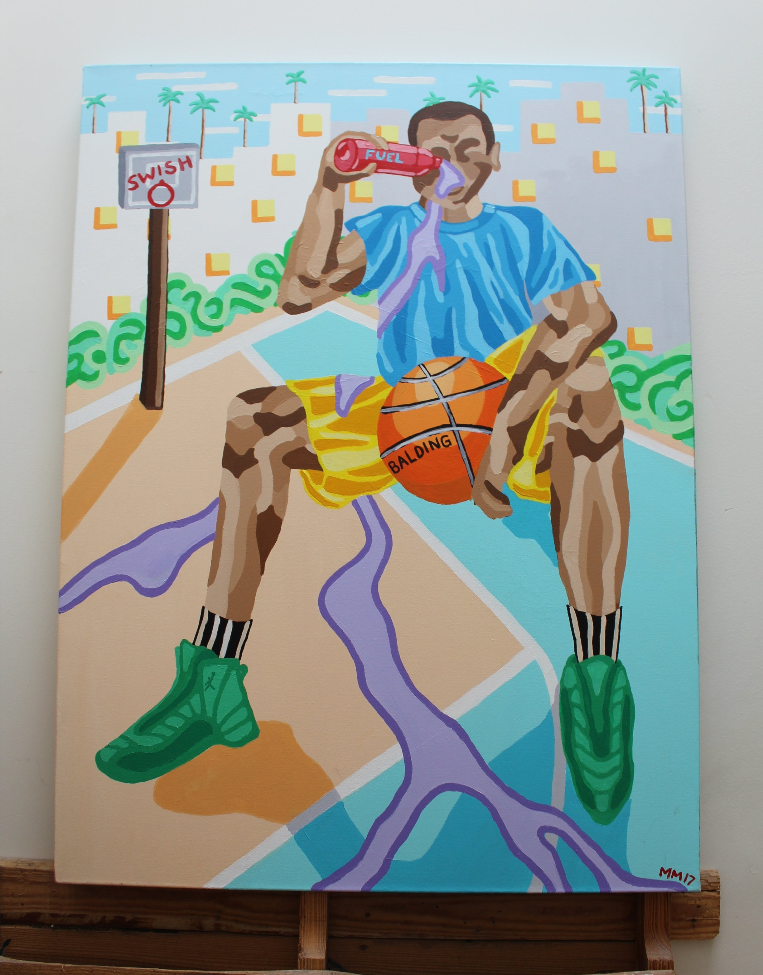 Balding 2018 Acrylic on Canvas 4 x 3 ft