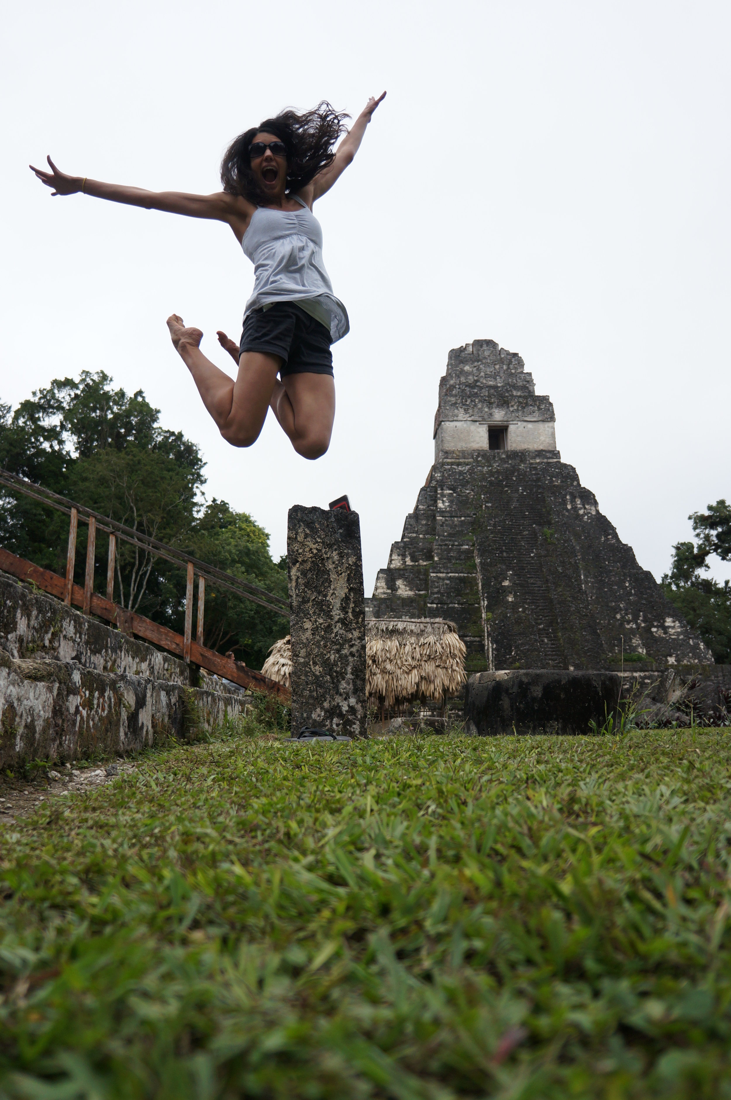 Jump shot over Temple I in the Grand Plaza