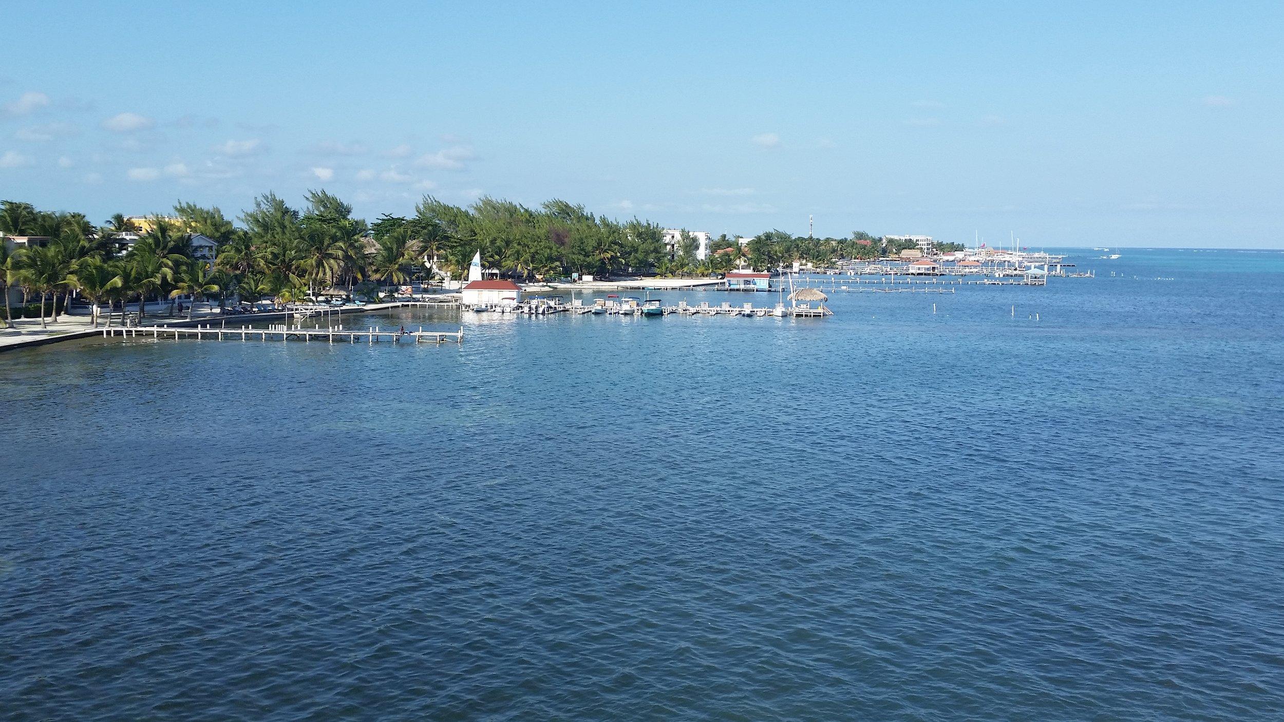 Ambergris Caye waterfront