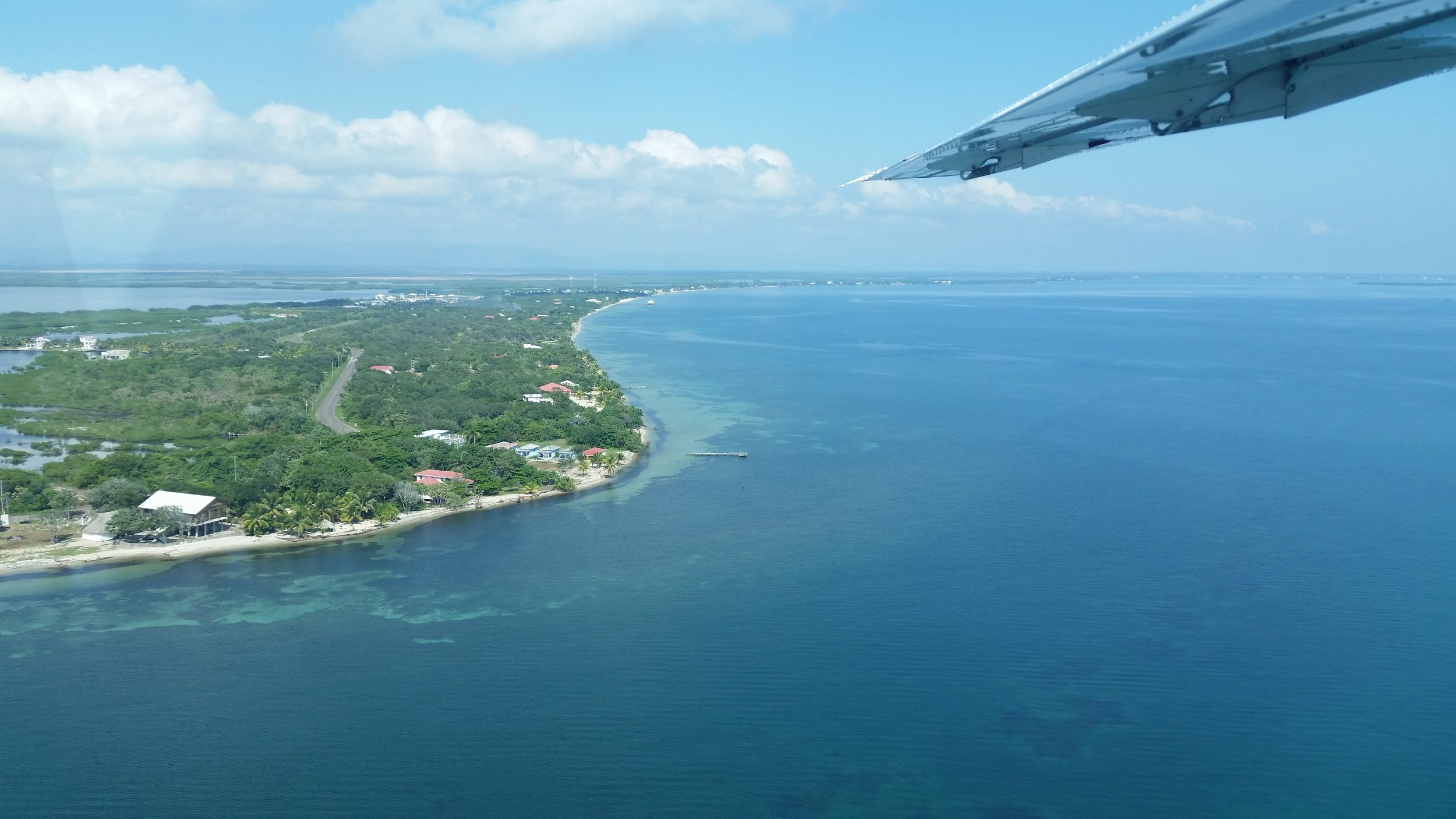 Tropic Air flight from Placencia to Ambergris Caye.