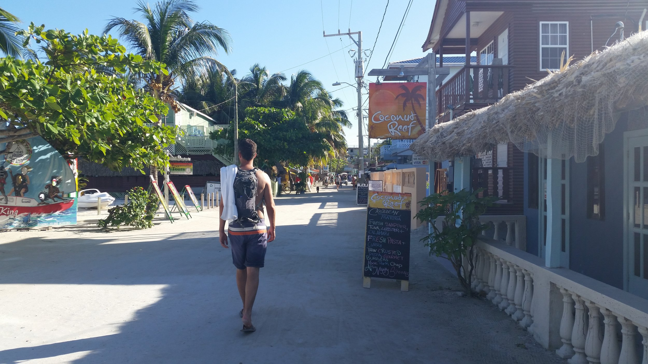Wandering the streets of Caye Caulker