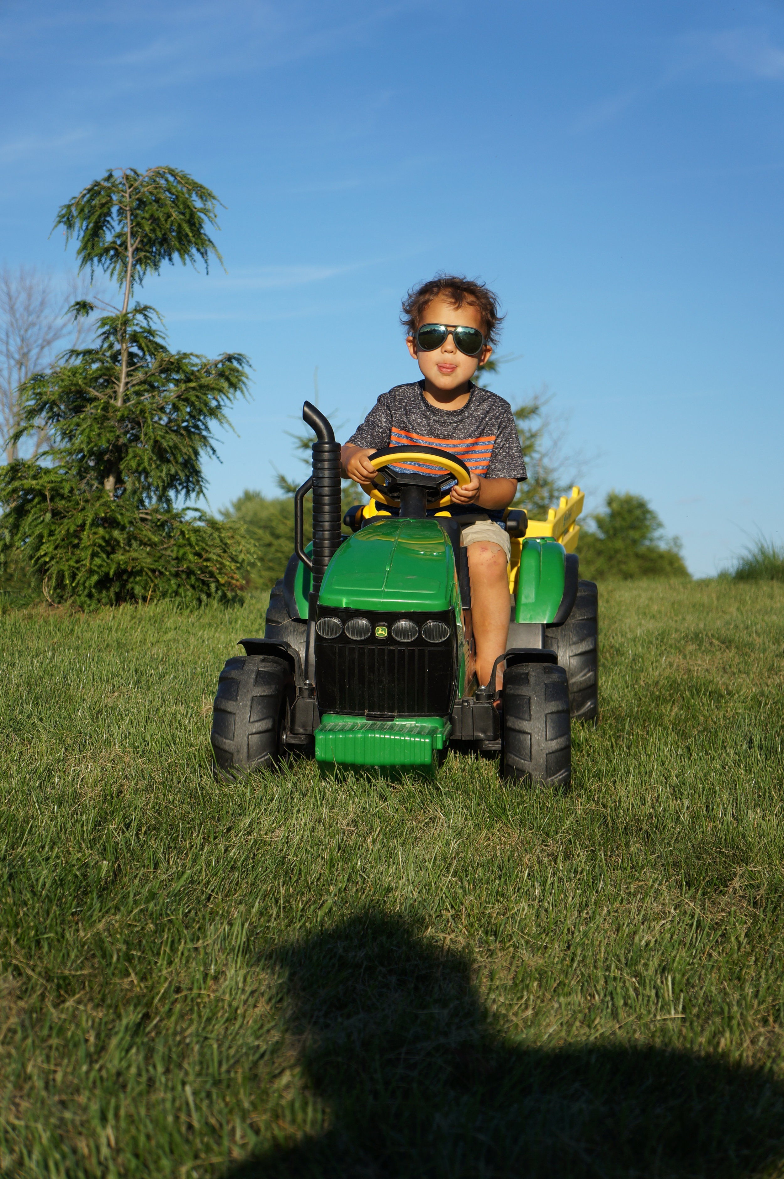 Reid might have been obsessed with this tractor. He guarded it with his life while here.