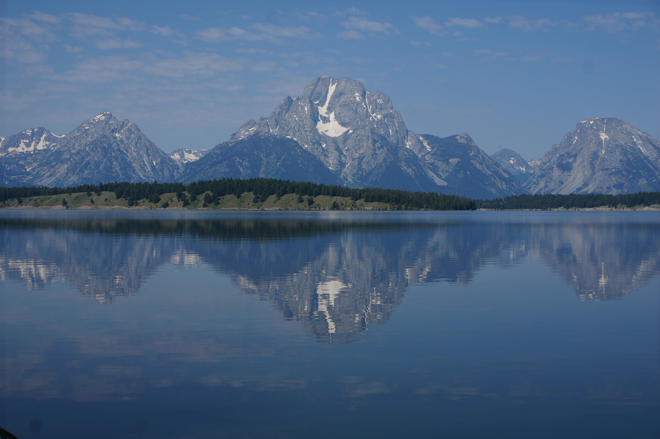 From Teton Park Road, another view of Jackson Lake at one of the turnouts.