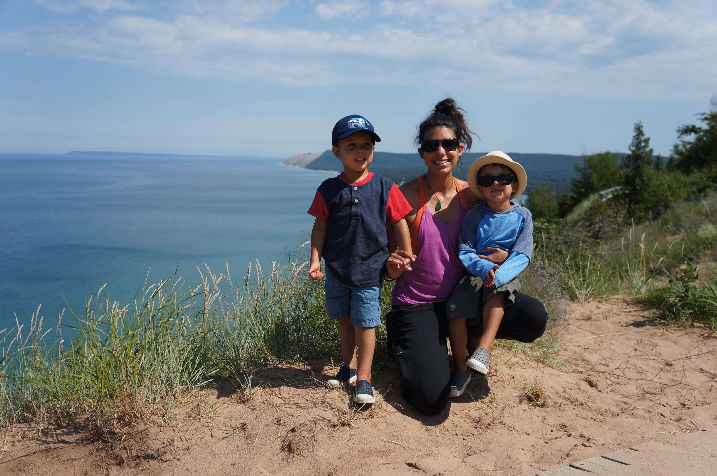 Rewarded with these views at the end of the Empire Bluff Trail.