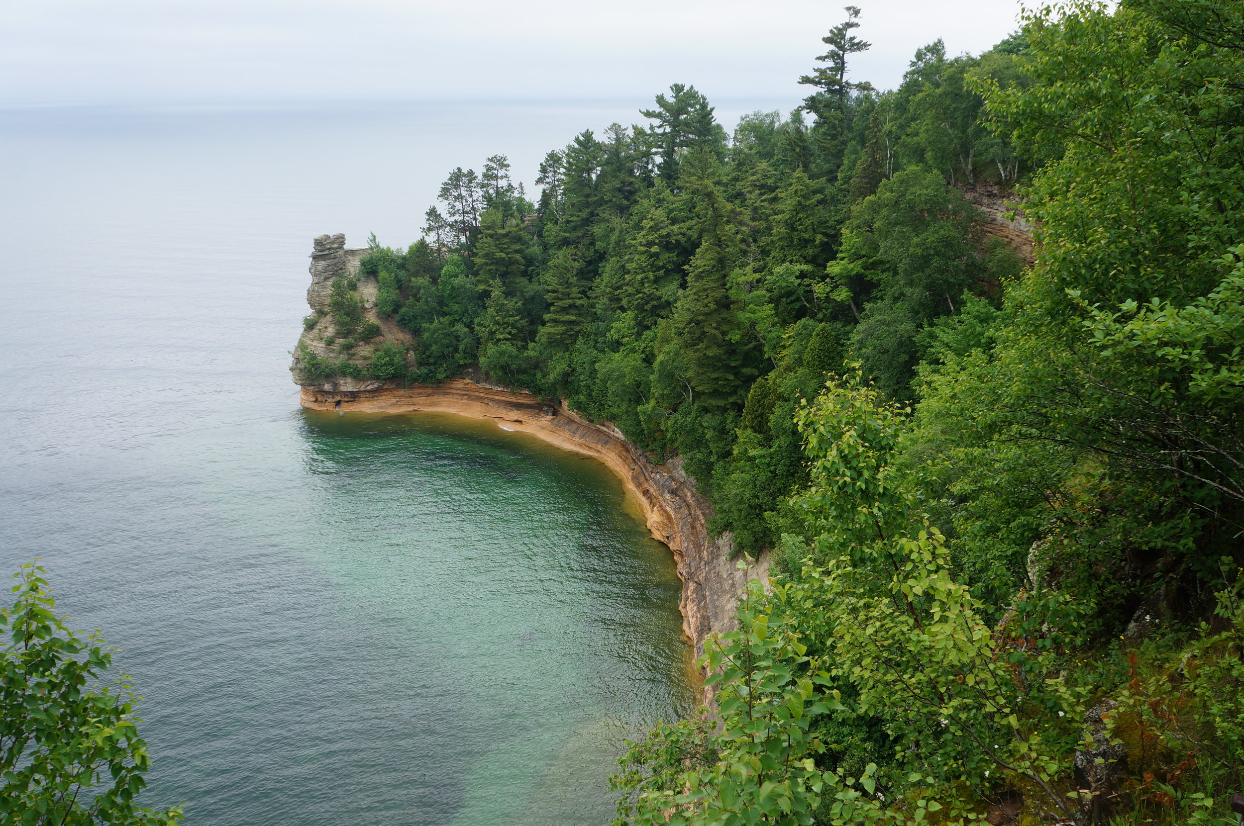 Touring Pictured Rocks National Lakeshore.