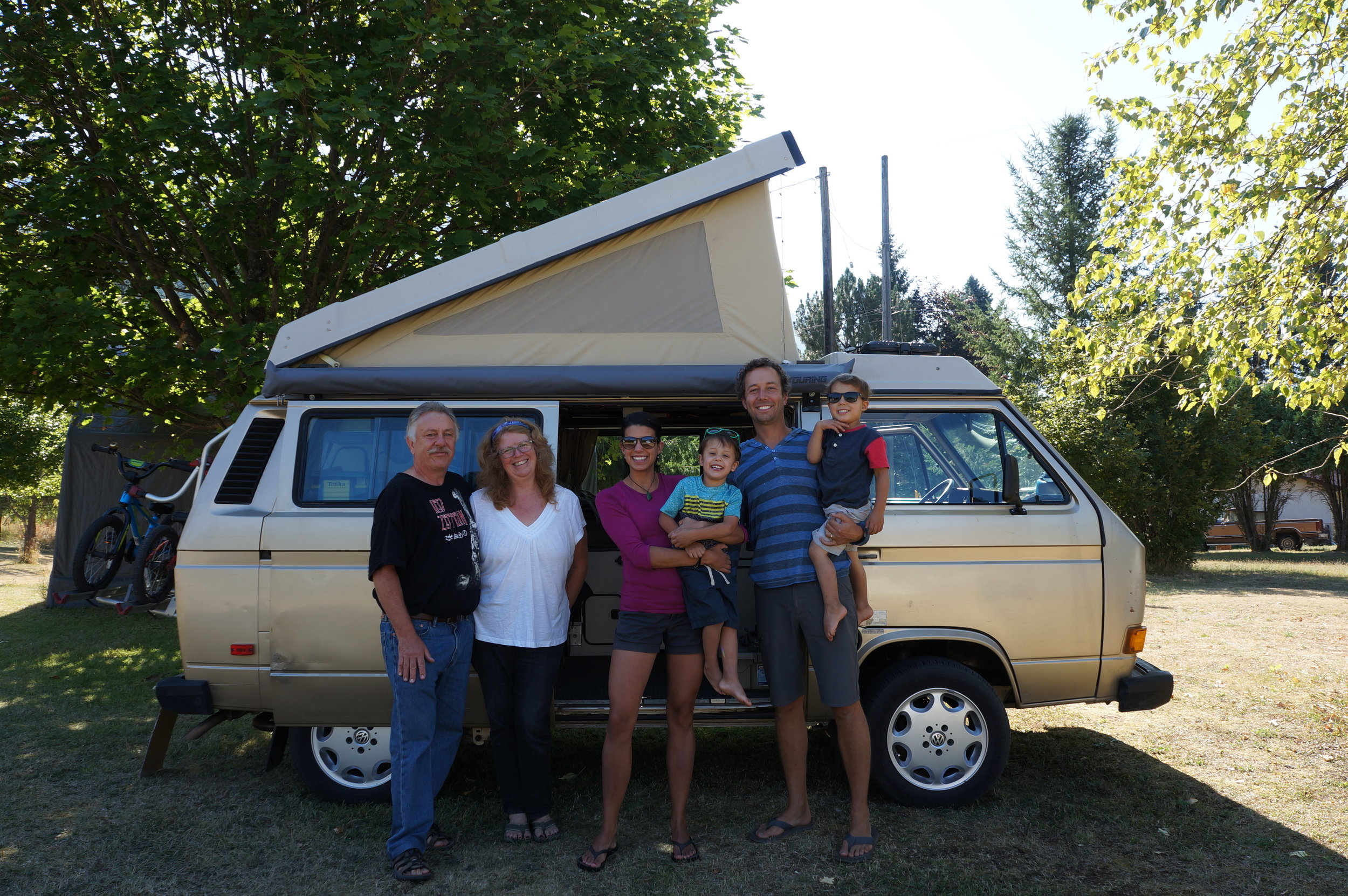 "Keith, Roxanne, and ""Toaster"", which is what Keith likes to call our van."