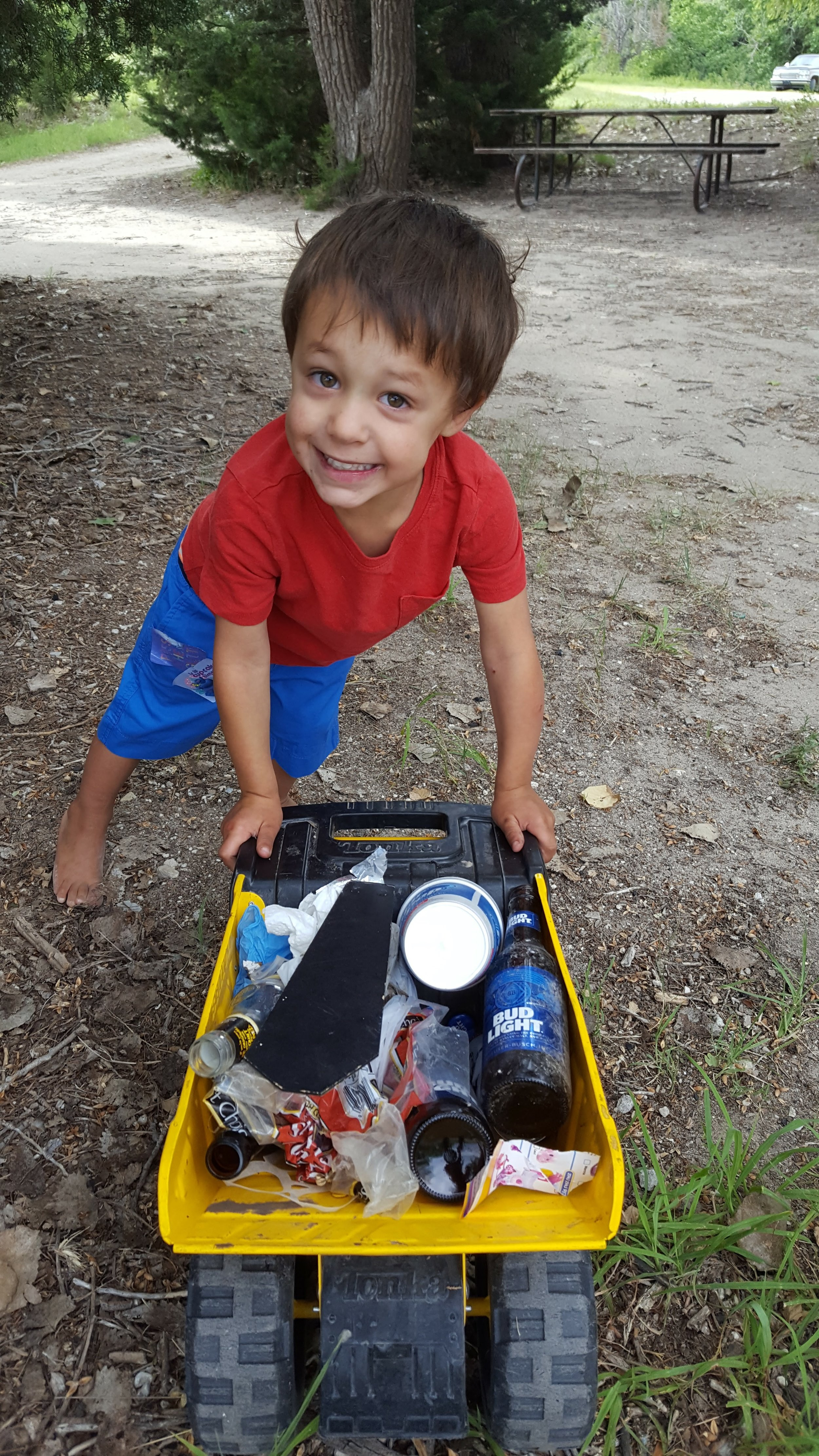 Day 4: Campsite Trash Pick-Up