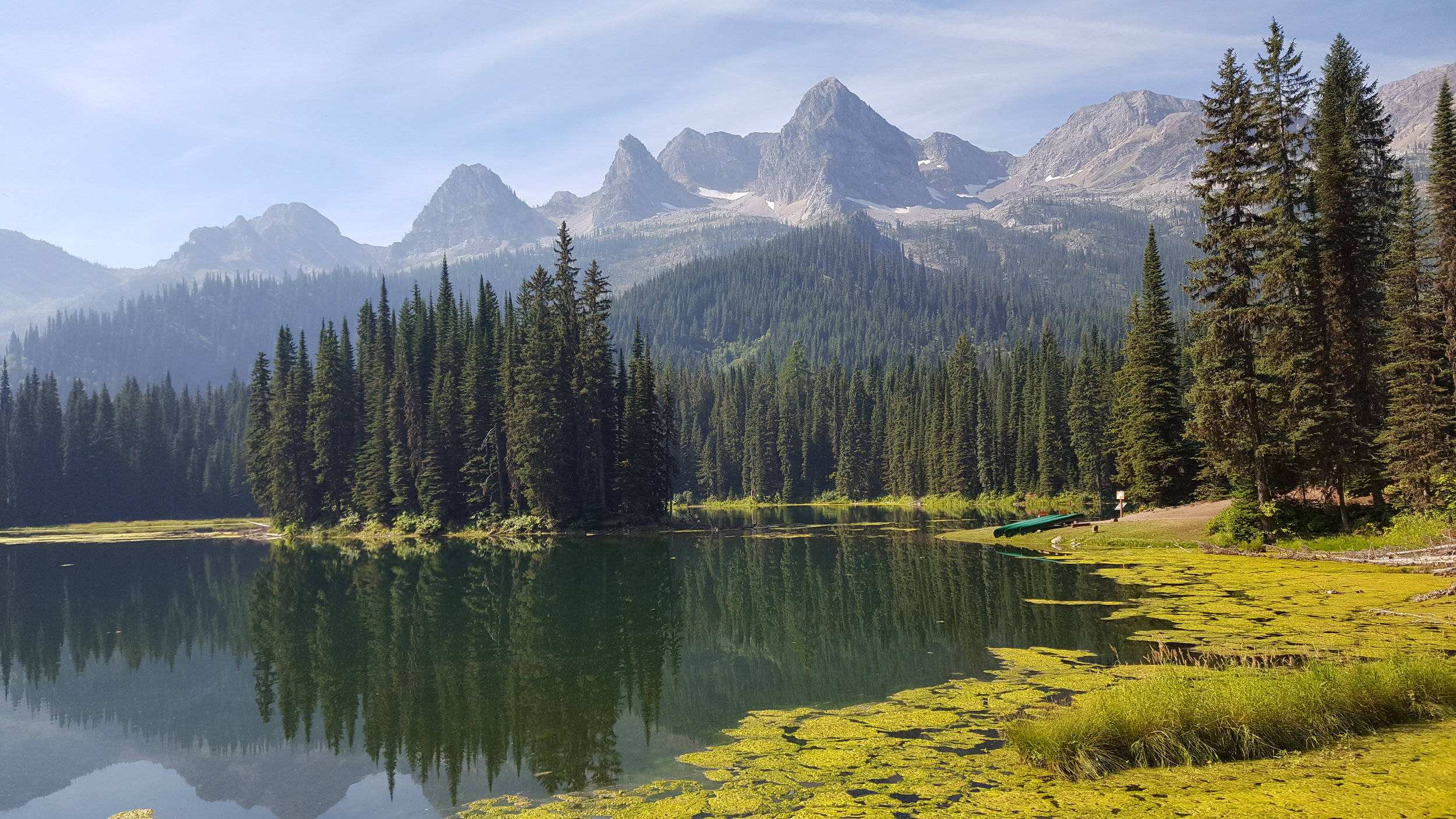 Just north of the U.S. border sits one of the most stunning places we've been - Island Lake, B.C.