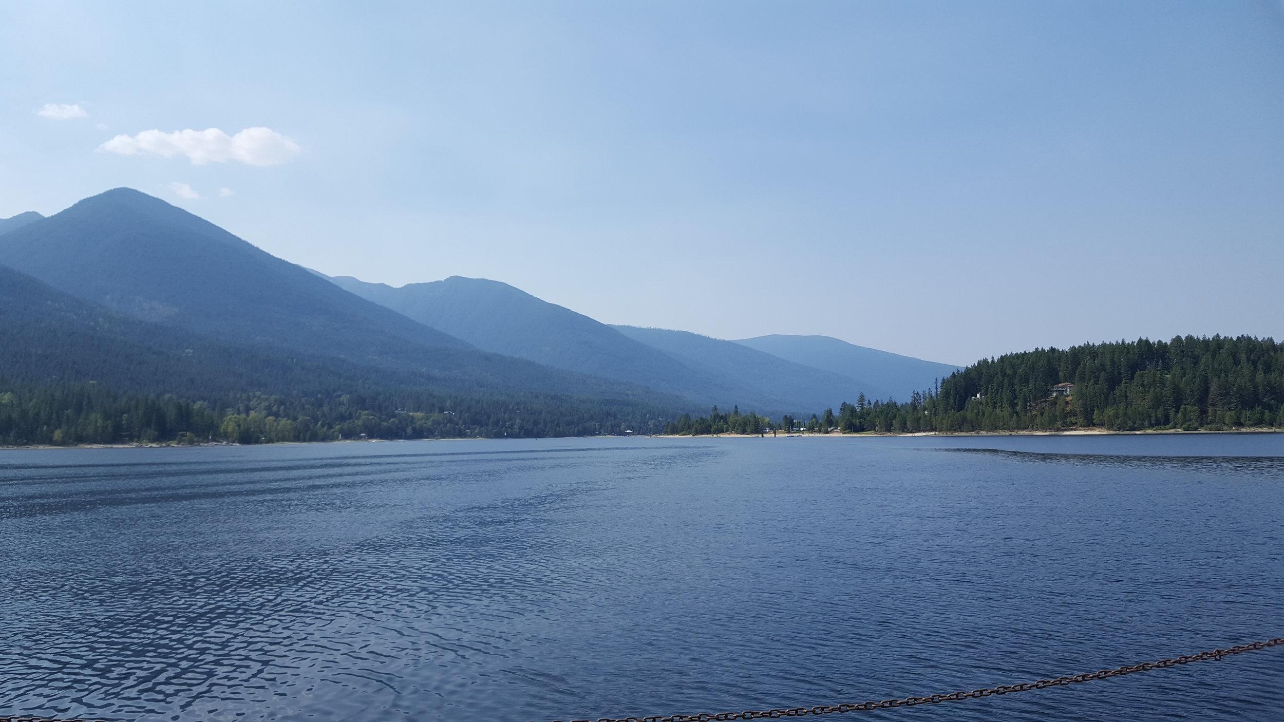 Ferry views of Kootenay Lake