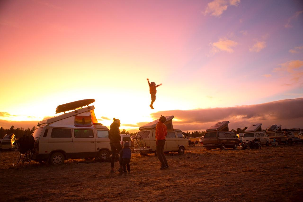 Descend on Bend event, Oregon -  Picture taken at random by Richard Sjösten from Sweden! Another flying jib!