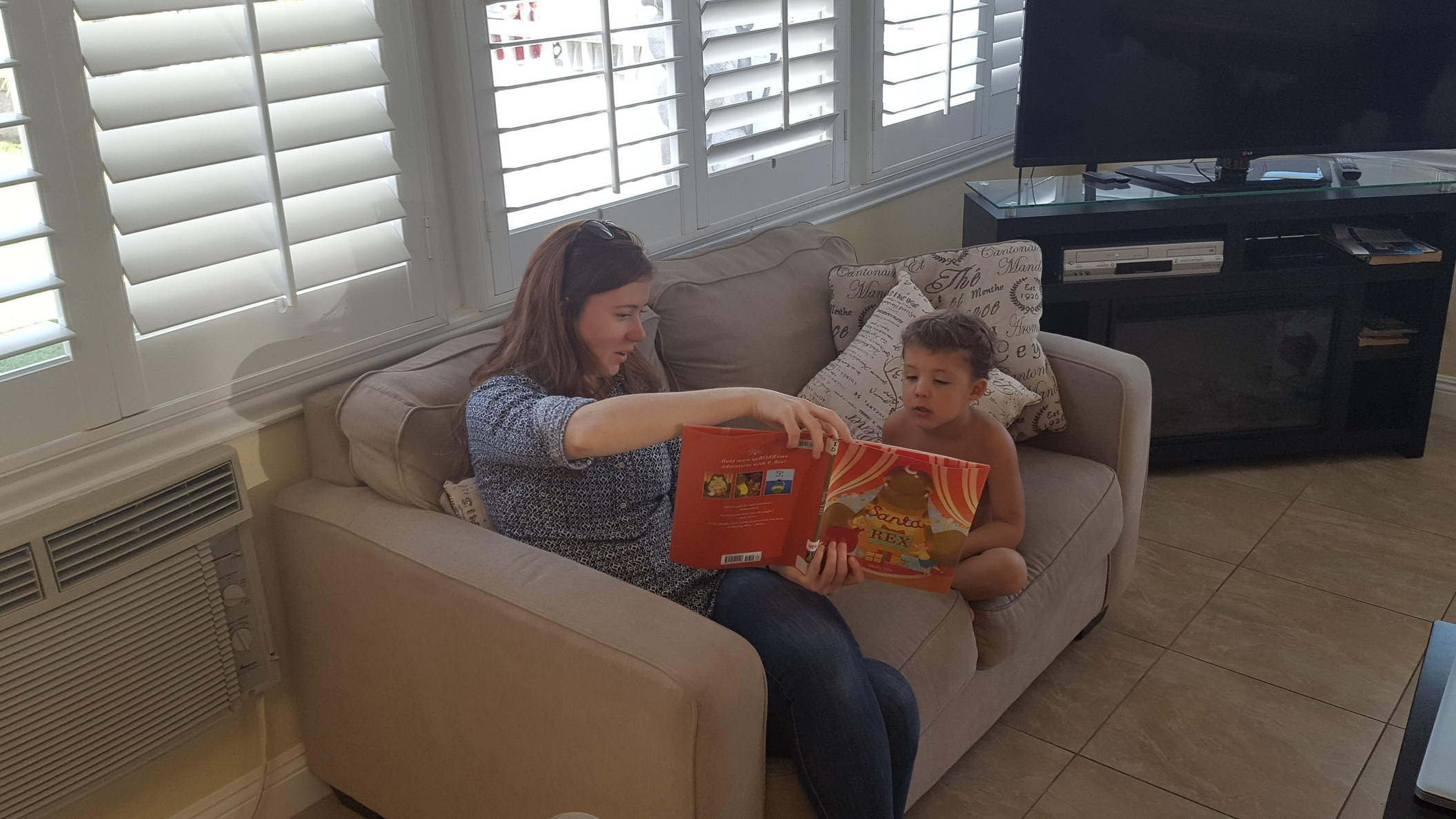 Reading books with Lyd.
