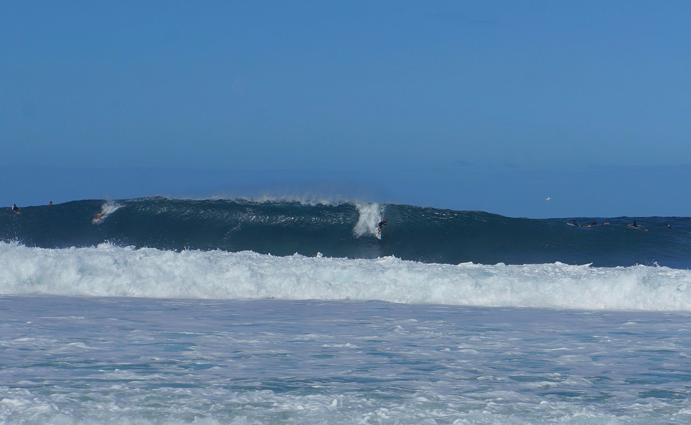 Big ol' waves...I think they said 18 footers that day??