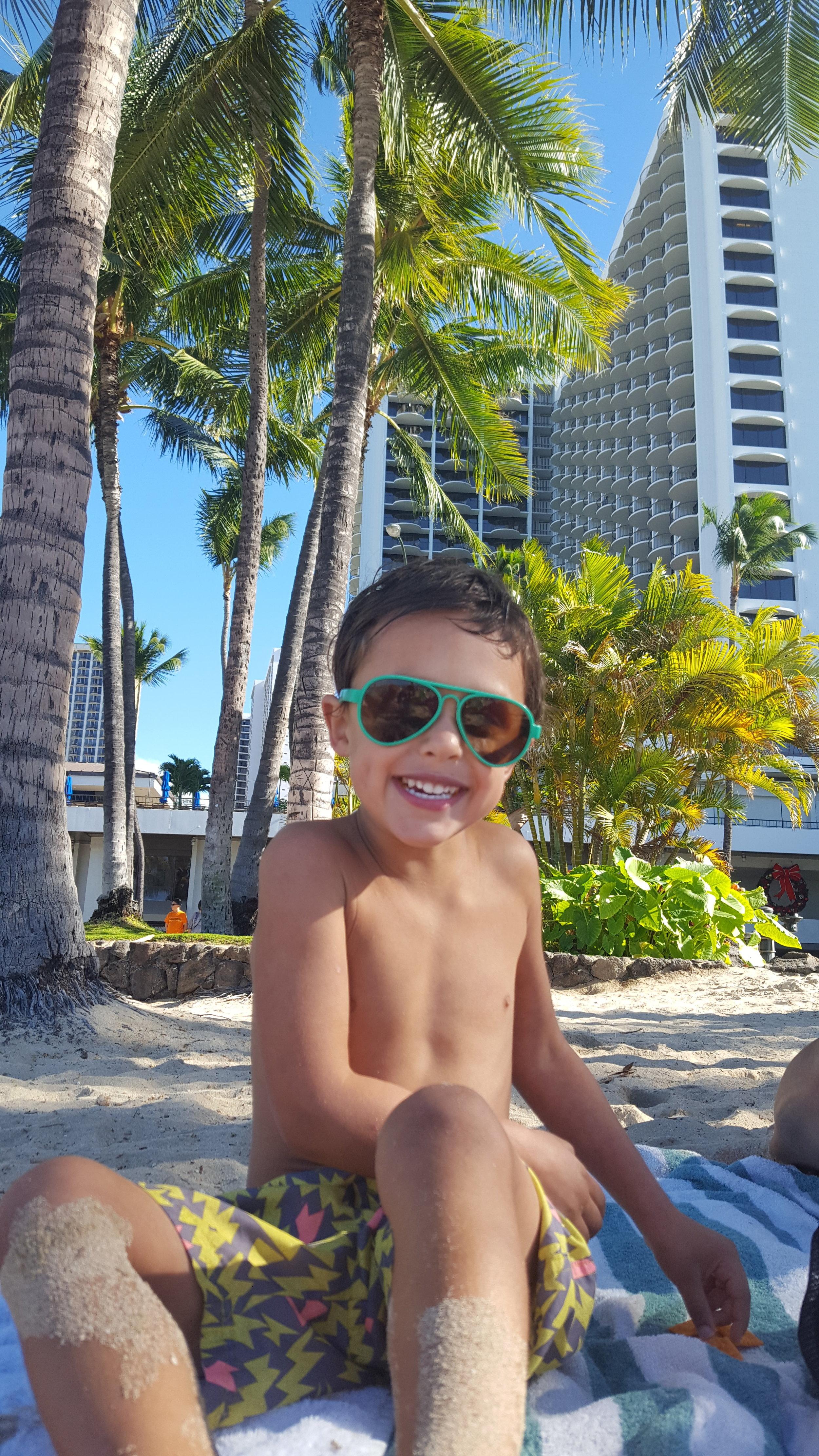 Bennett on Waikiki Beach