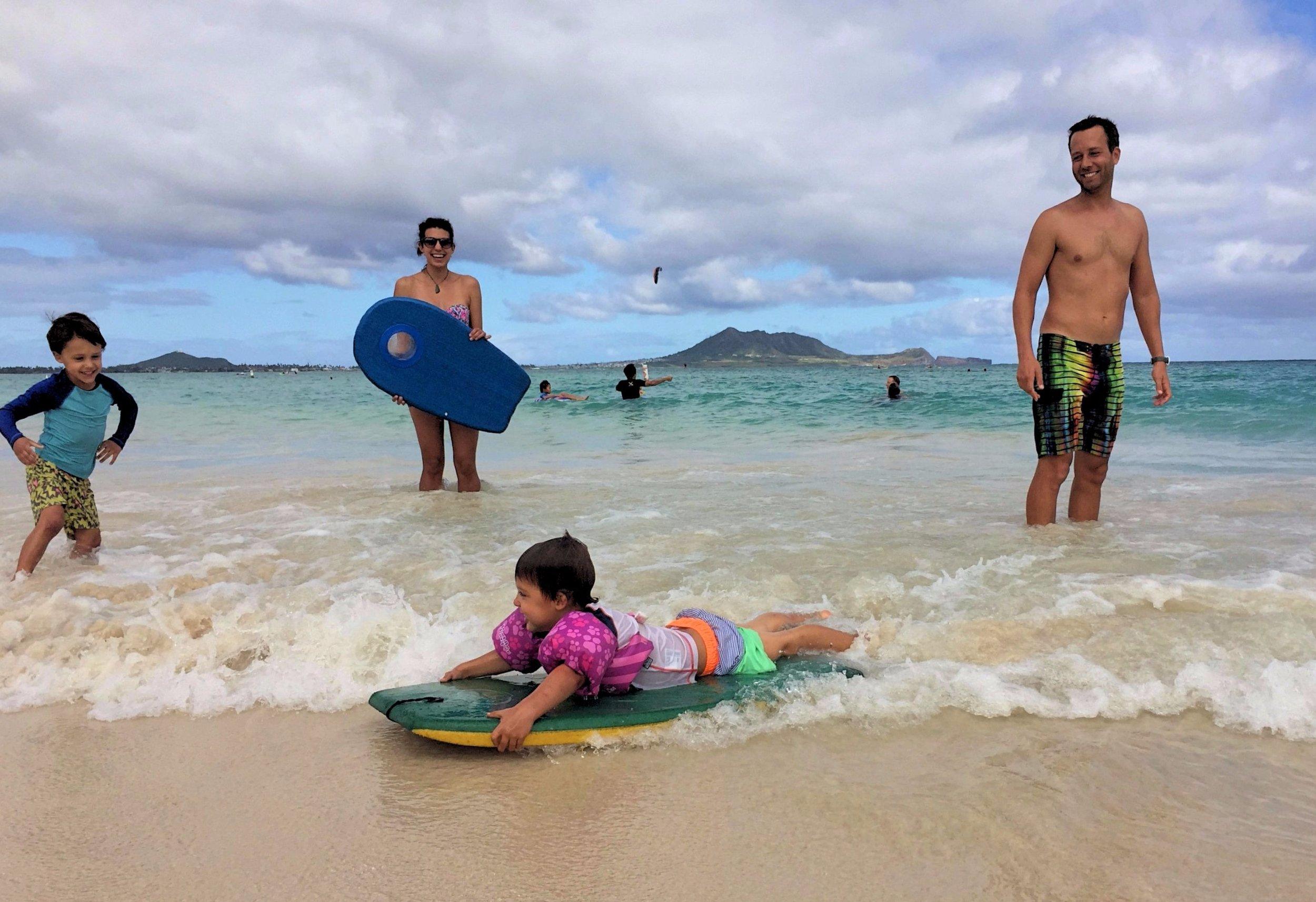 "Our current ""home-town"" beach in Kailua, Oahu"