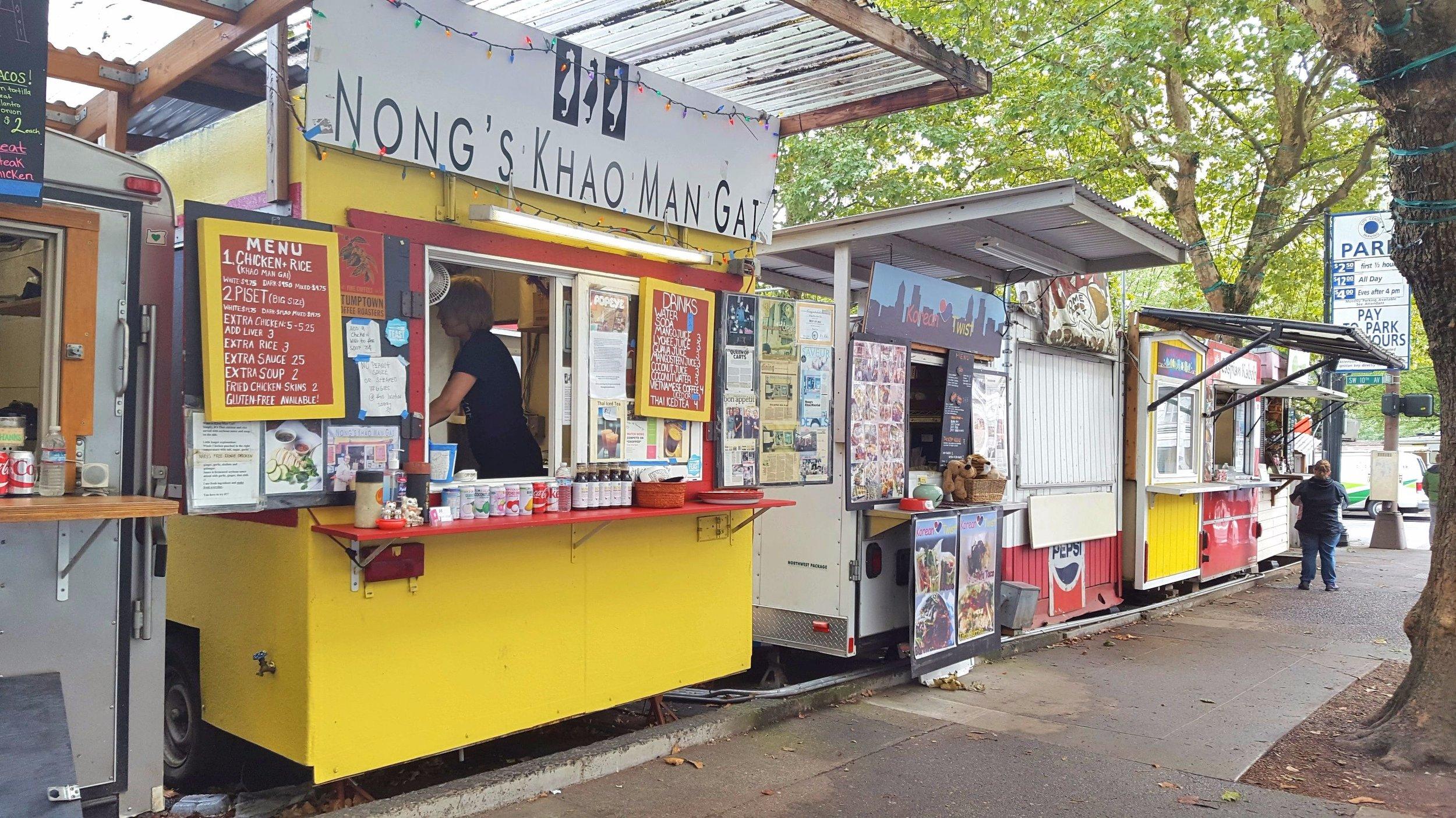 Food Trucks - Alder Street in Portland.