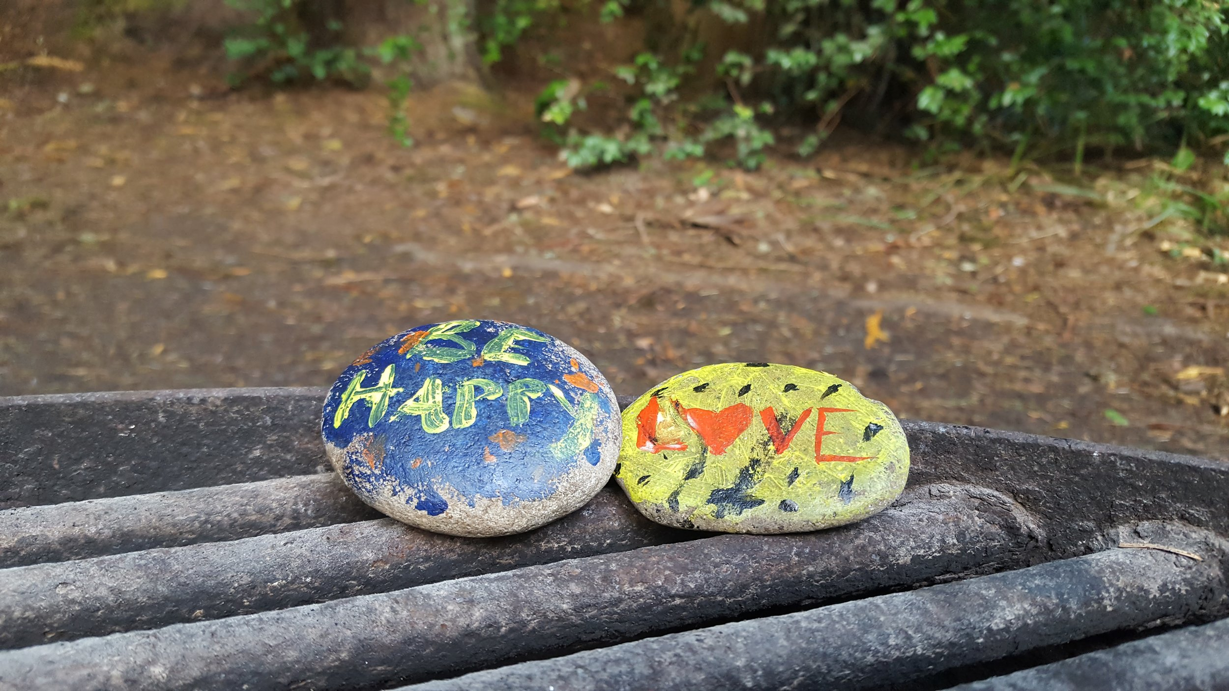 The boys painted 'love' rocks and we left them for the next campers to enjoy