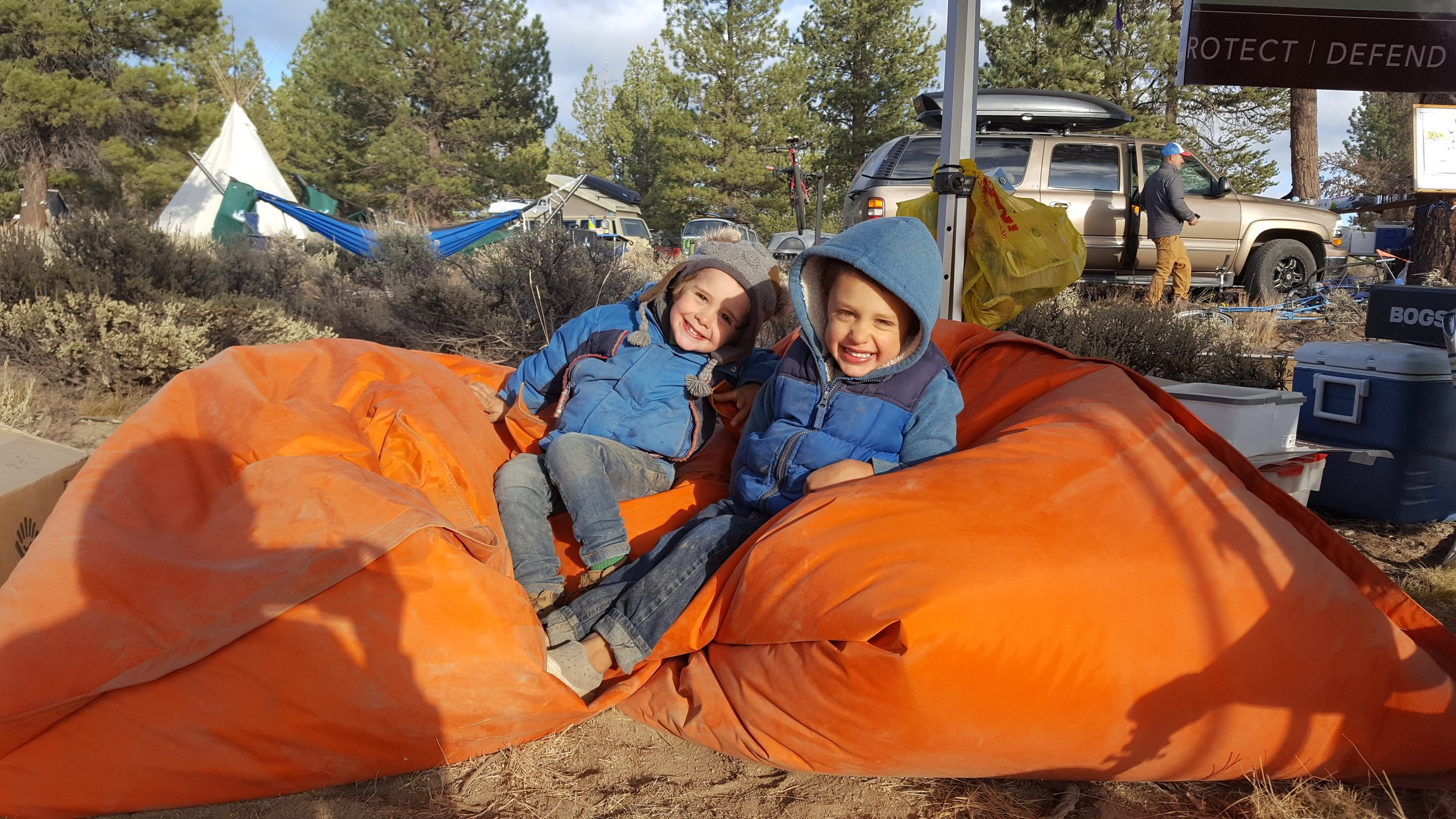 Our favorite neighbor's at Descend on Bend - This is Jack from Washington and the boys just adored playing with him.