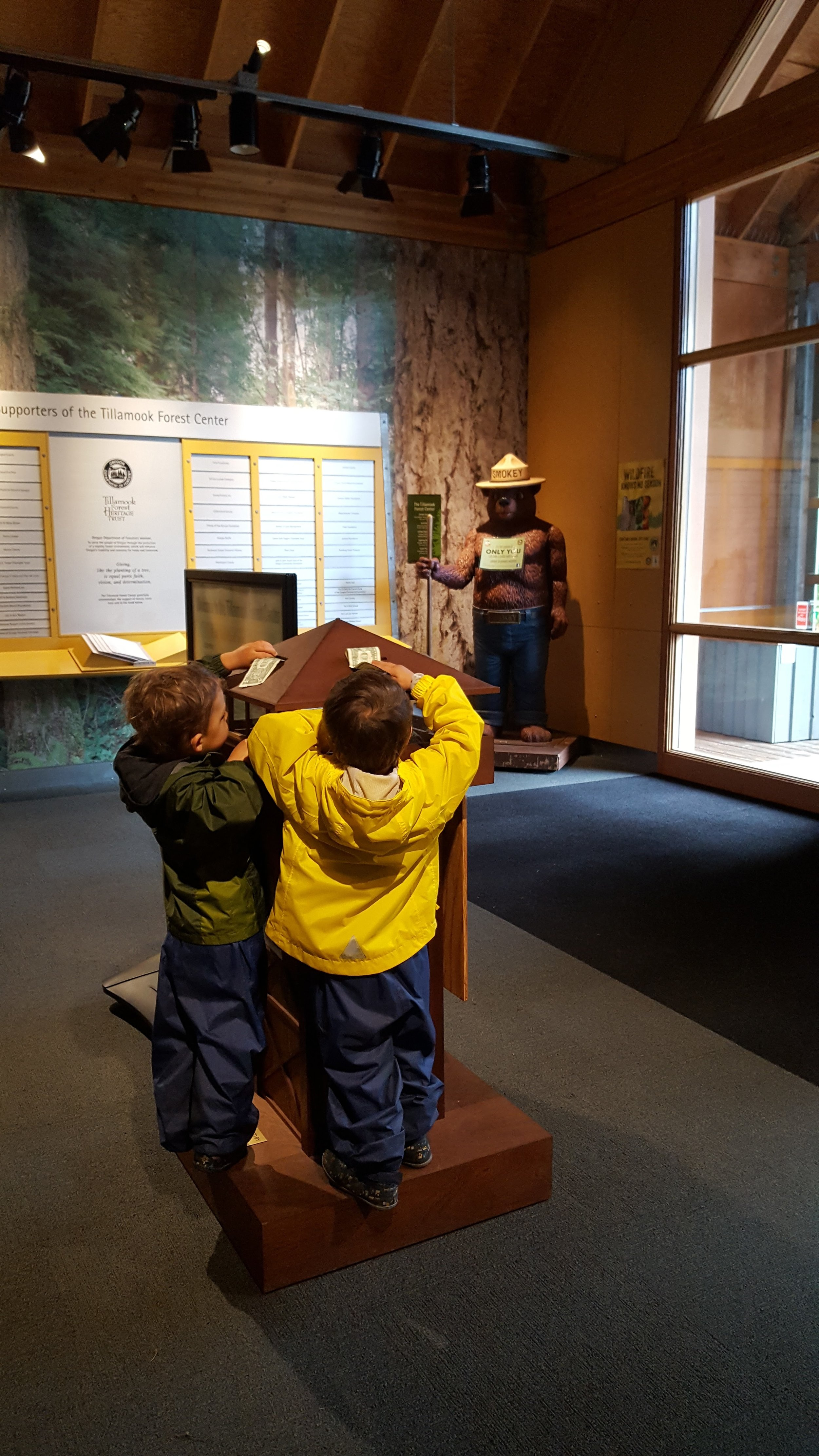 Winner of the Best Visitor's Center goes to:    Tillamook Forest Center!!!    Just go!