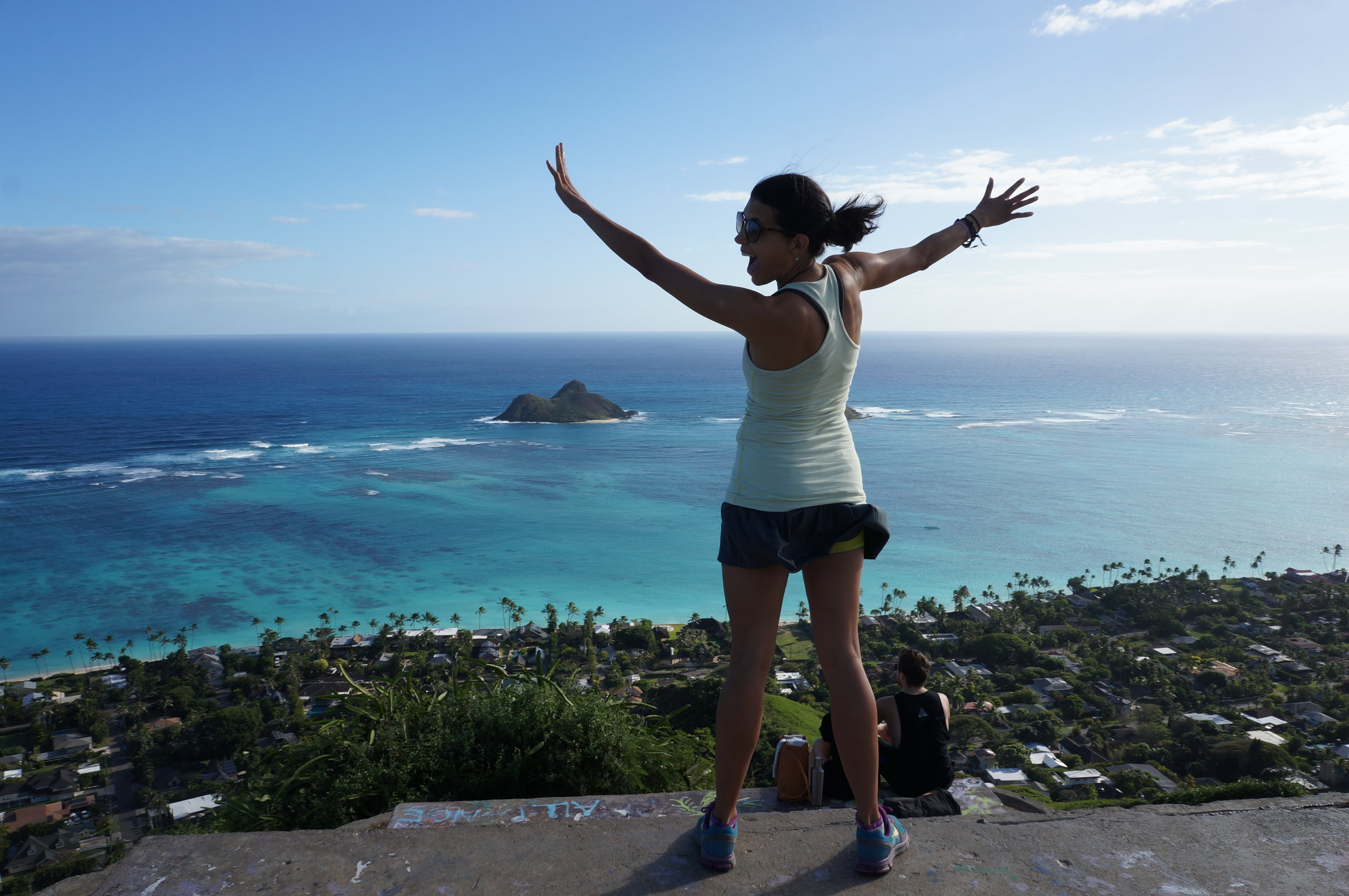 The insane views from Pillbox Hike, overlooking Lanikai Beach.