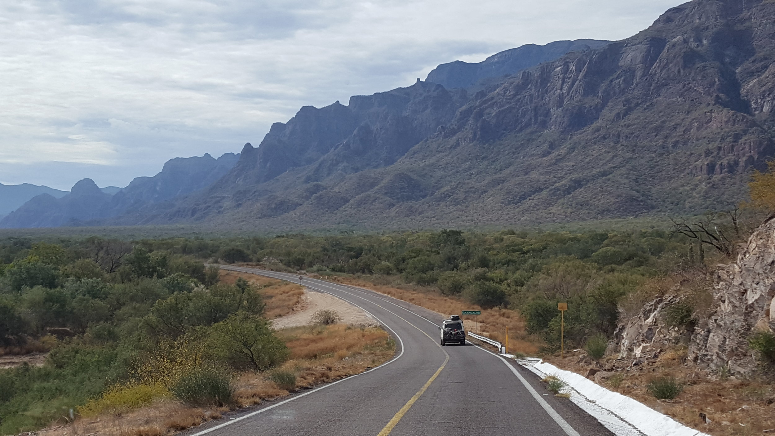Just your average Baja scenery. -Caravanning with Brad and Shannon.