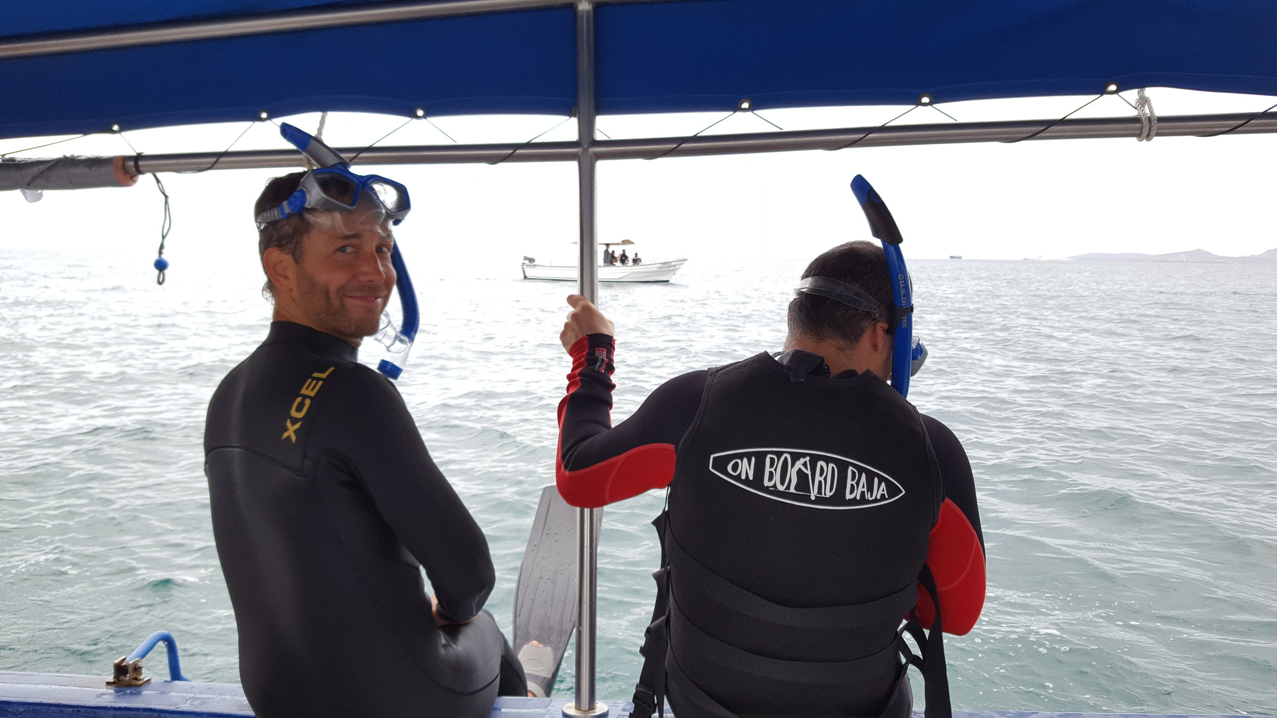 Chip and Matt ready to meet the biggest fish in the sea!