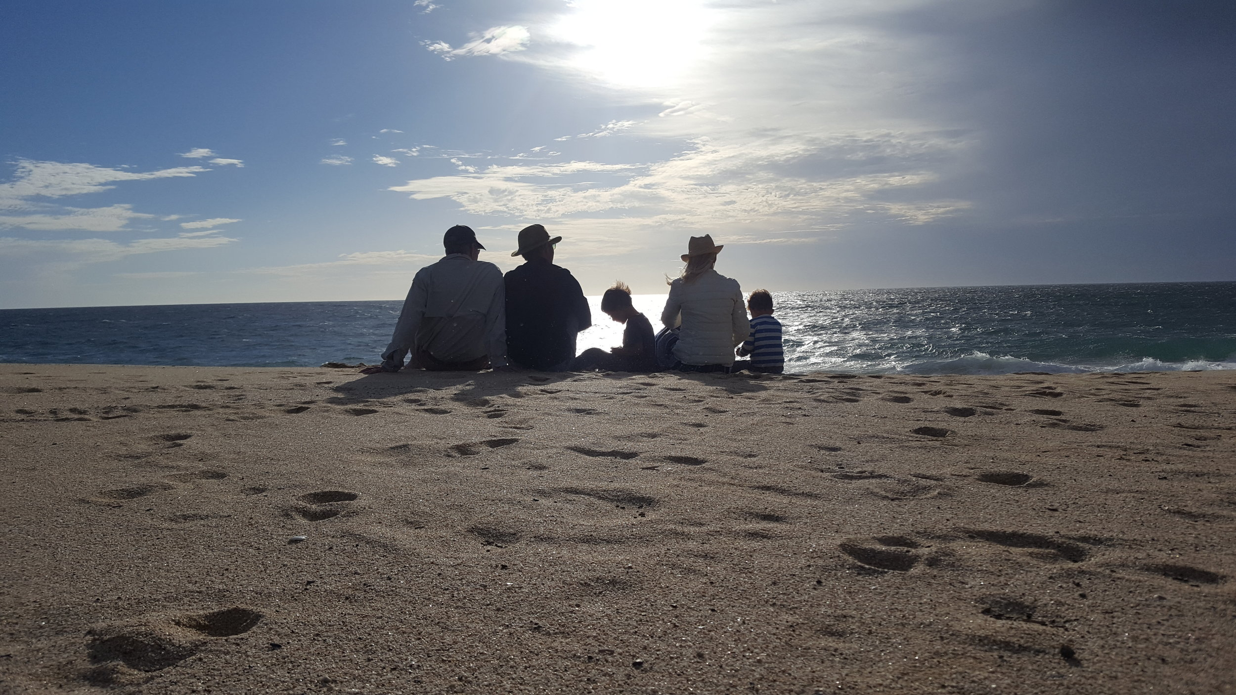 Spending quality time with Chip's parents in Todos Santos, Baja California Sur