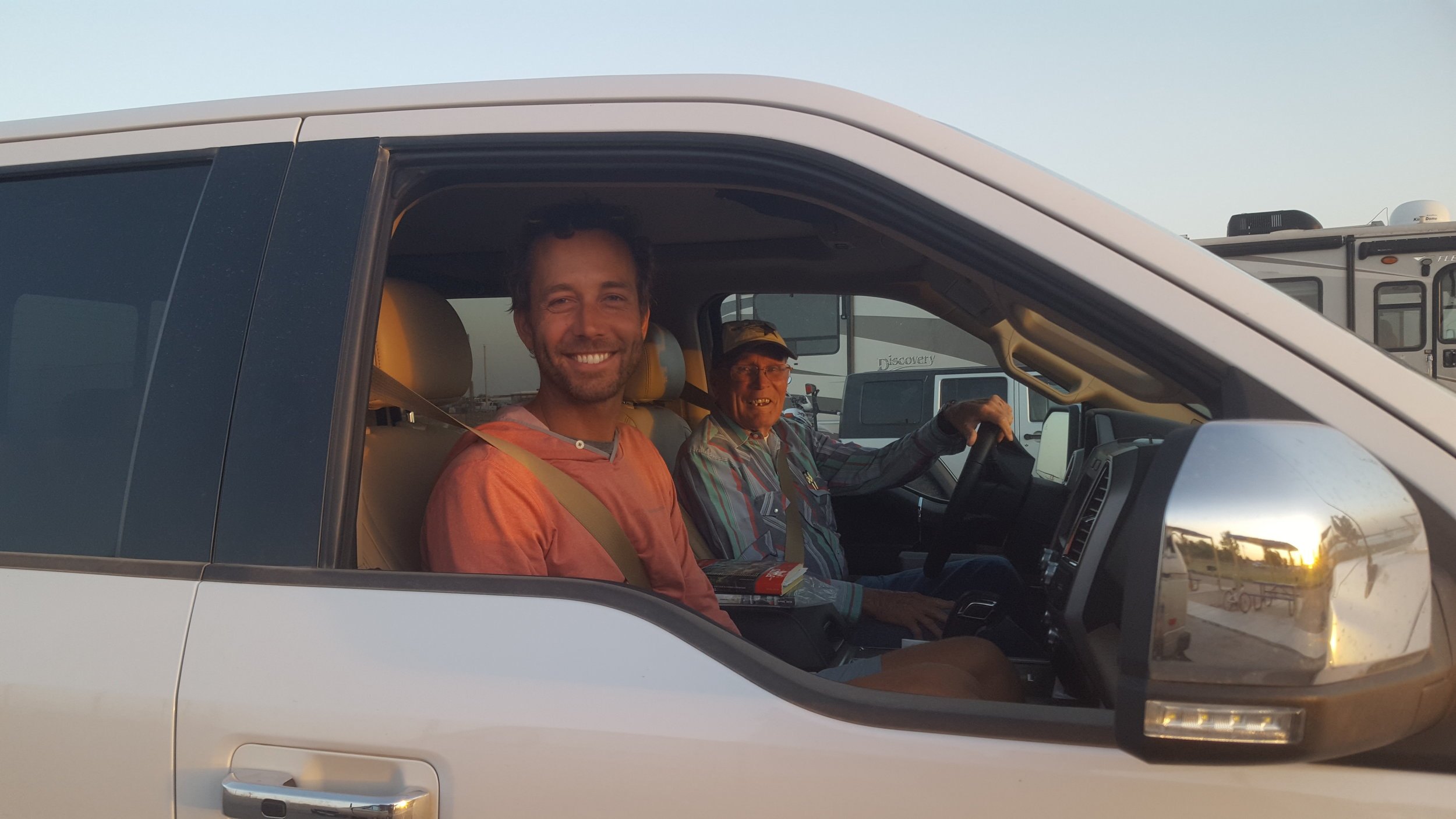 Chip and Gene after their joy ride around Jal, NM.