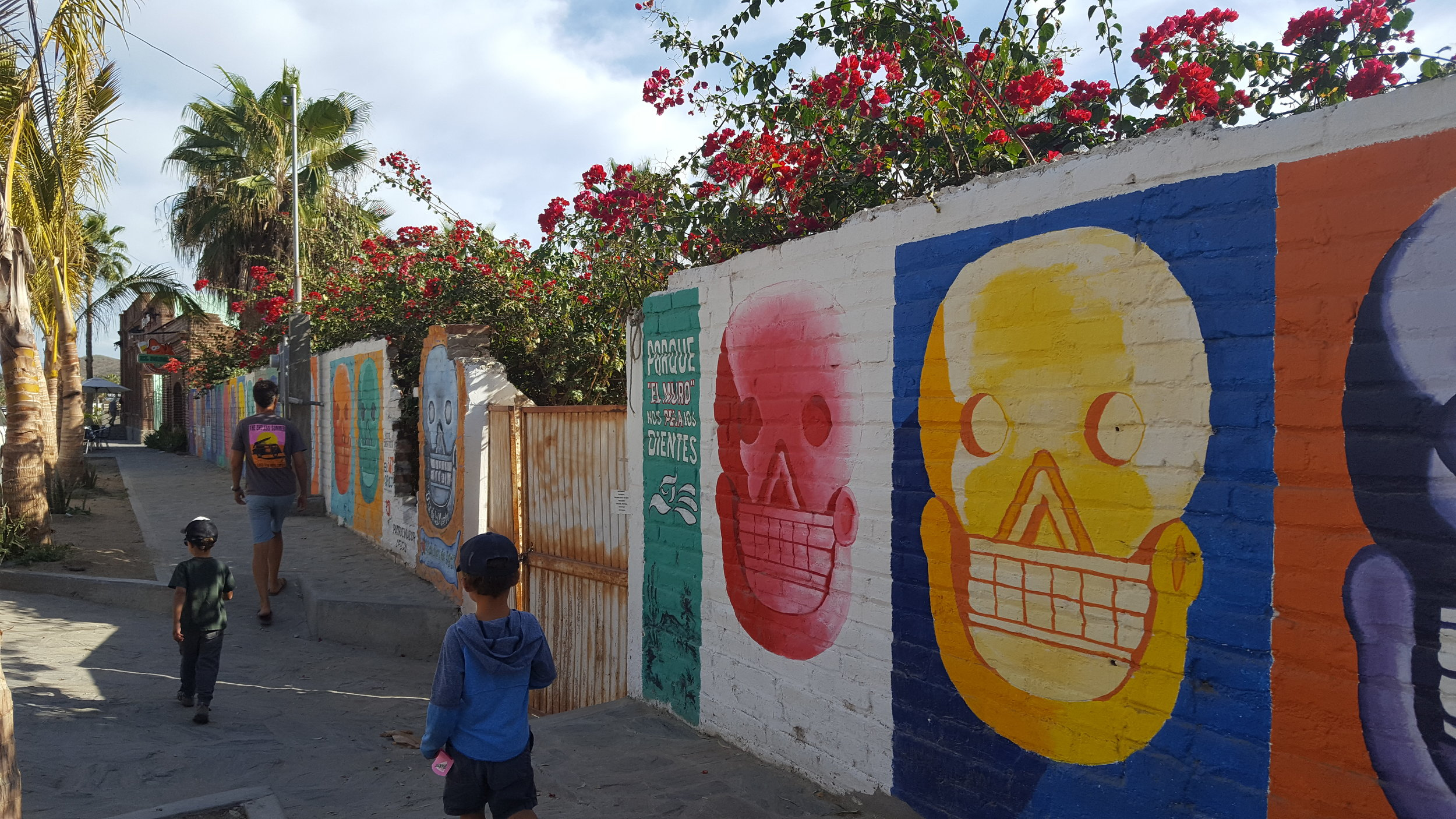 Colorful murals, in town Todos Santos