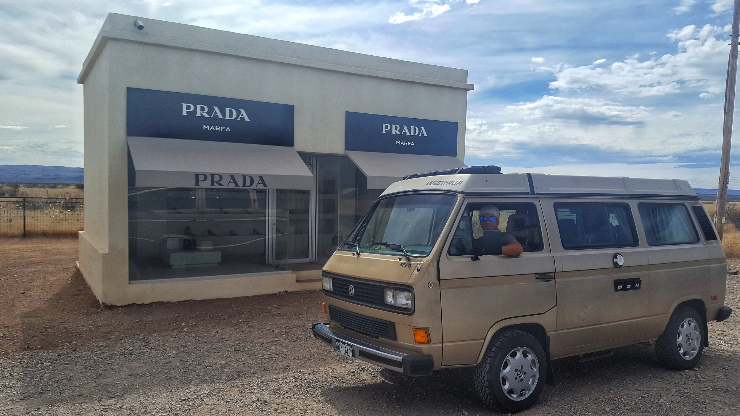 A quick stop at the Marfa Prada store.