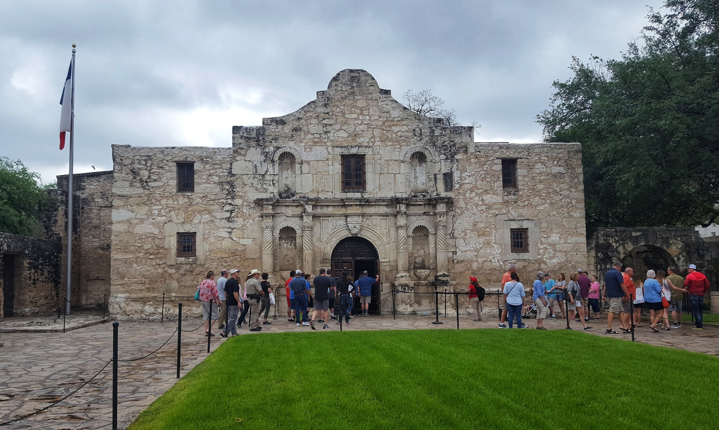 Please note: There is no basement in the Alamo...
