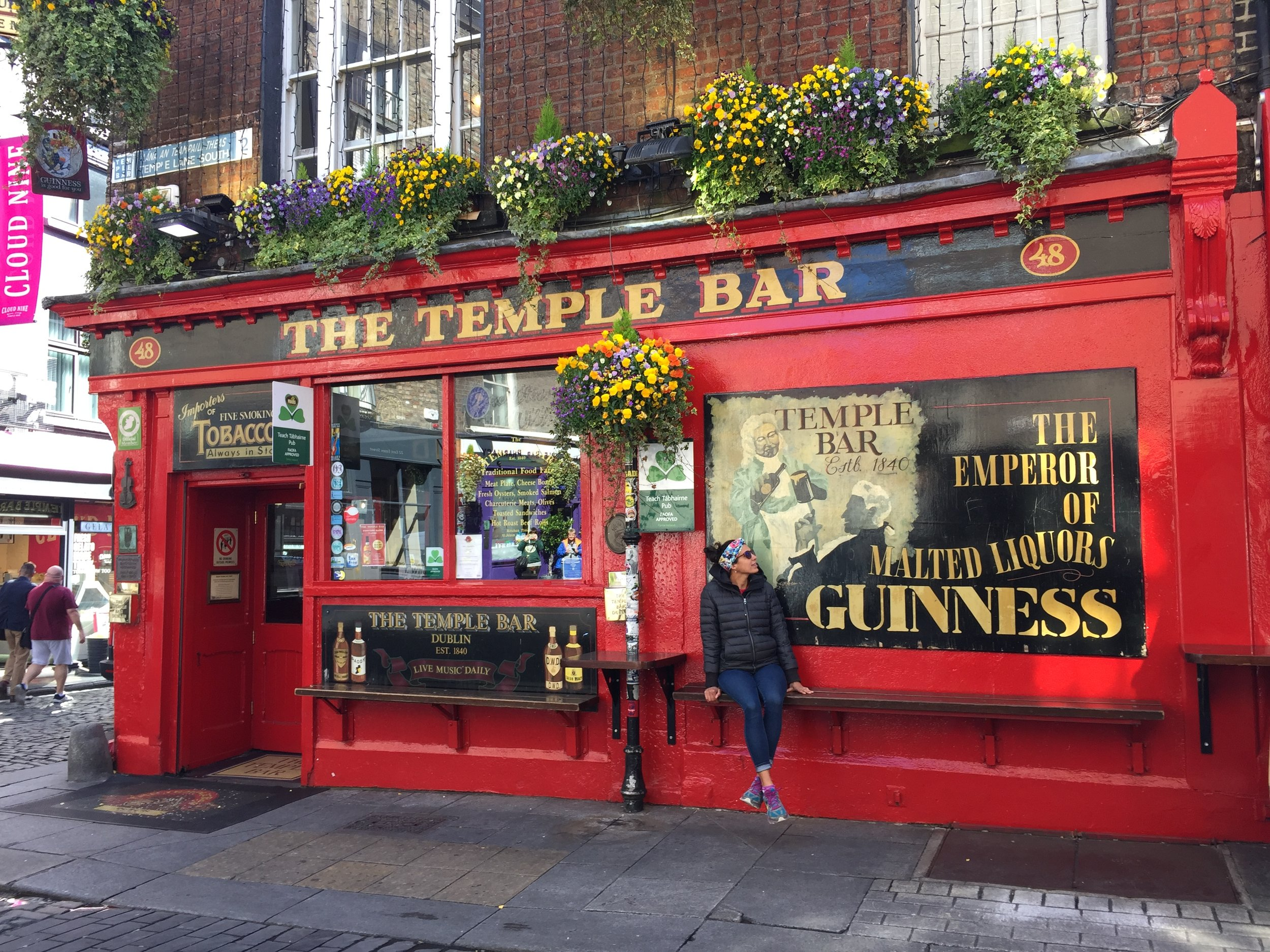 A visit to Temple Bar neighborhood and of course, The Temple Bar itself