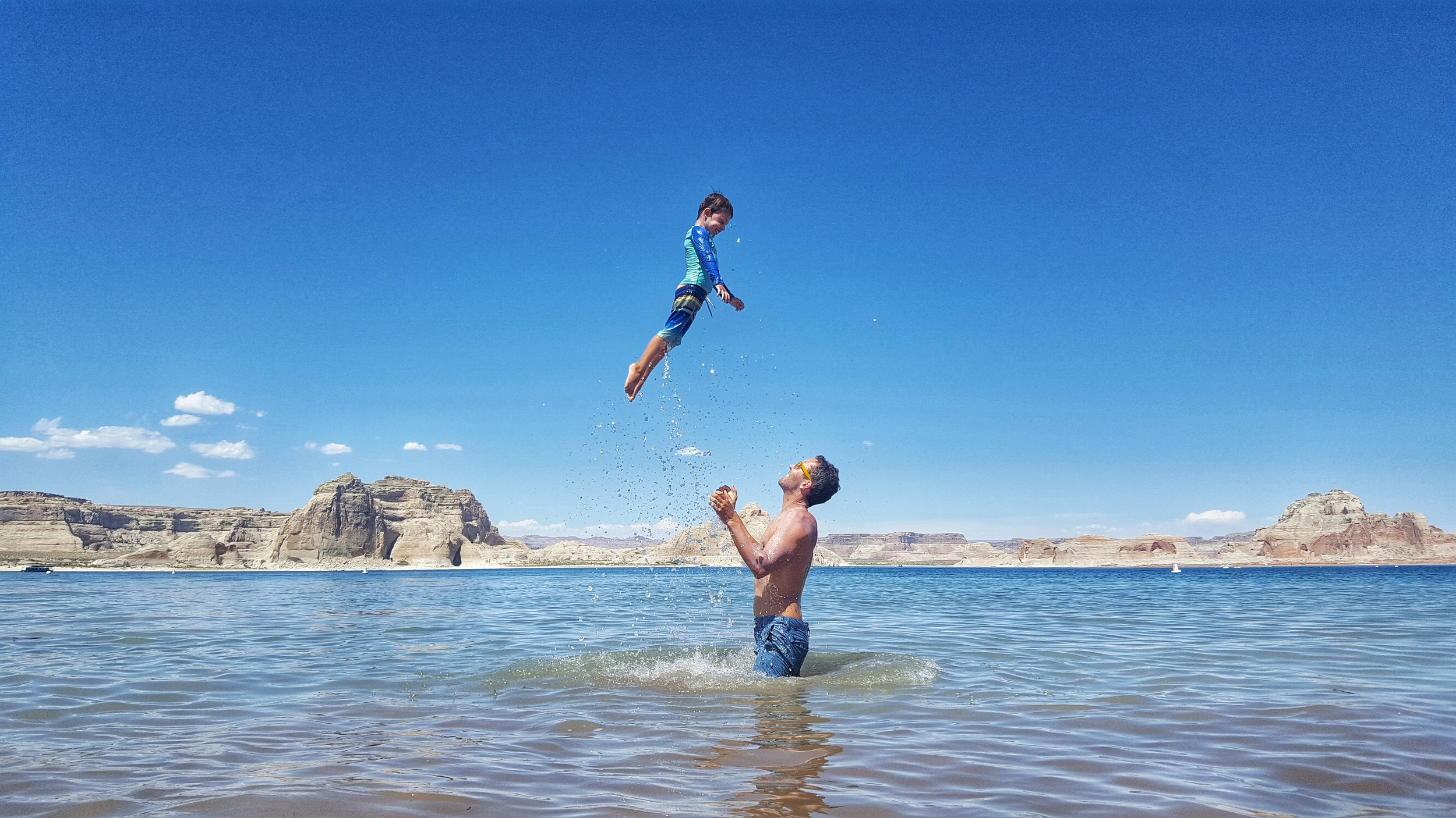Flying high over Lake Powell.