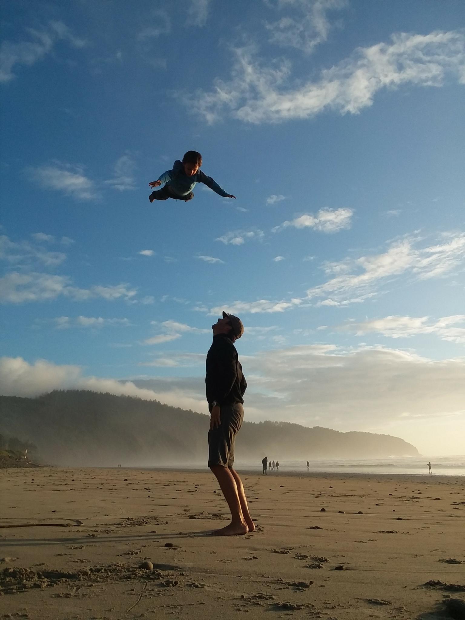 Supermanning over Cape Lookout State Park, Oregon