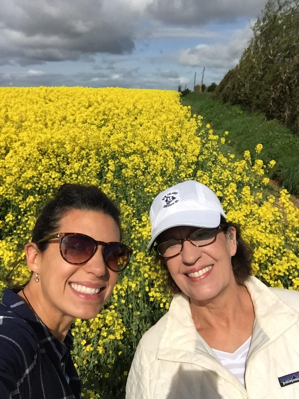 I'll never forget this moment with my mom. From the narrow curvy road to the surprise field of endless yellow flowers!